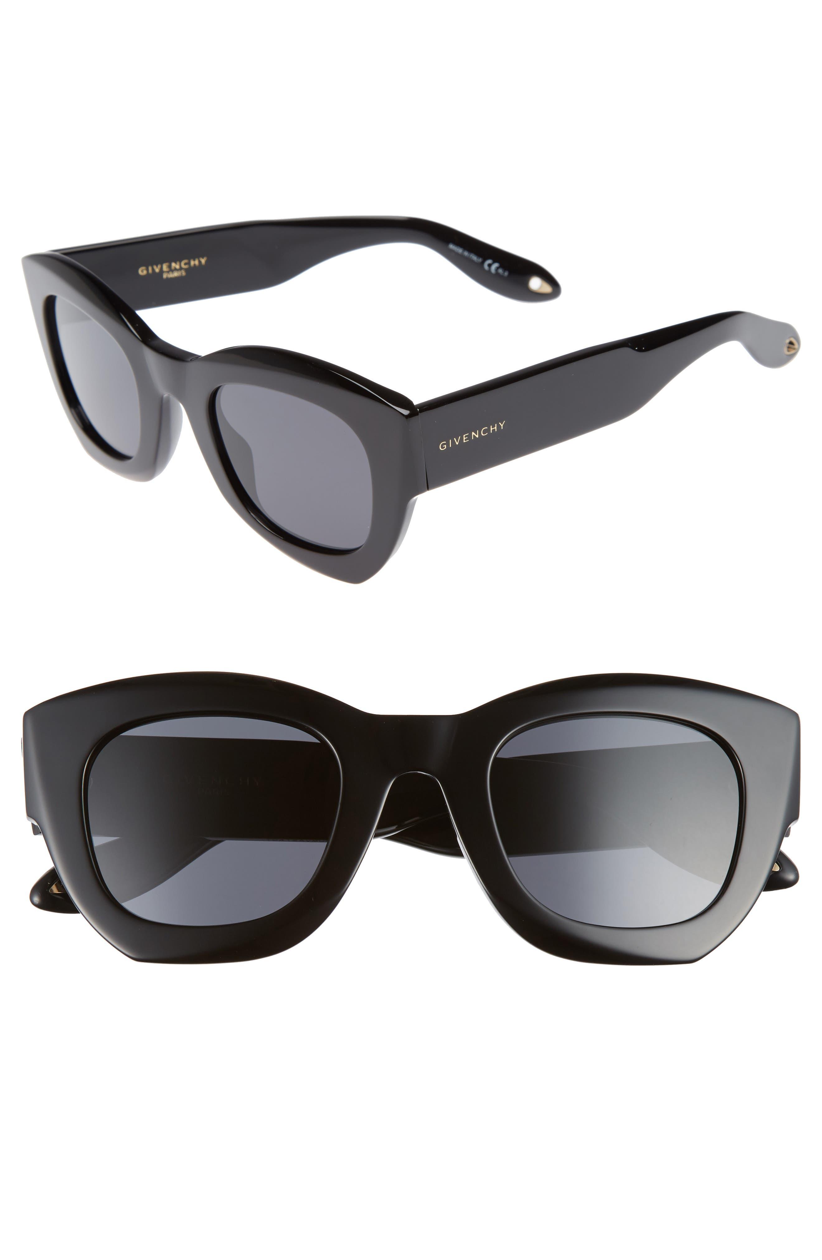 48mm Cat Eye Sunglasses,                             Main thumbnail 1, color,                             001