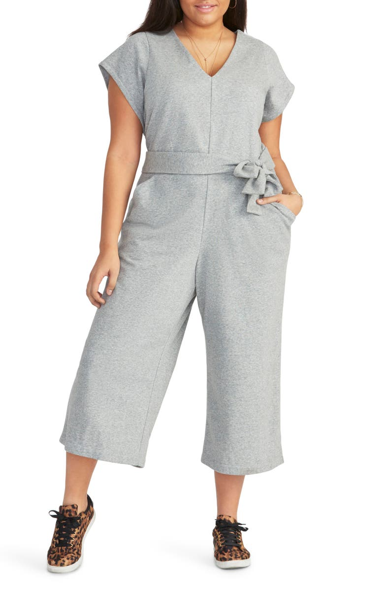 83ee015befec RACHEL Rachel Roy Racquel Tie Front Crop Cotton Blend Jumpsuit (Plus ...