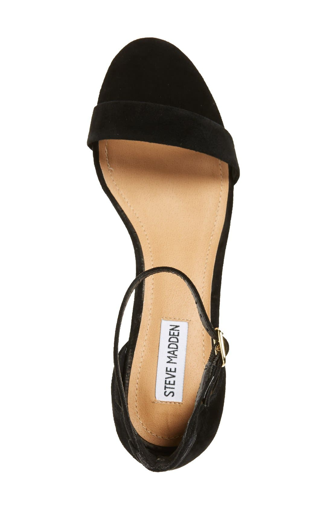 'Irenee-G' Mirror Block Heel Sandal,                             Alternate thumbnail 3, color,                             006