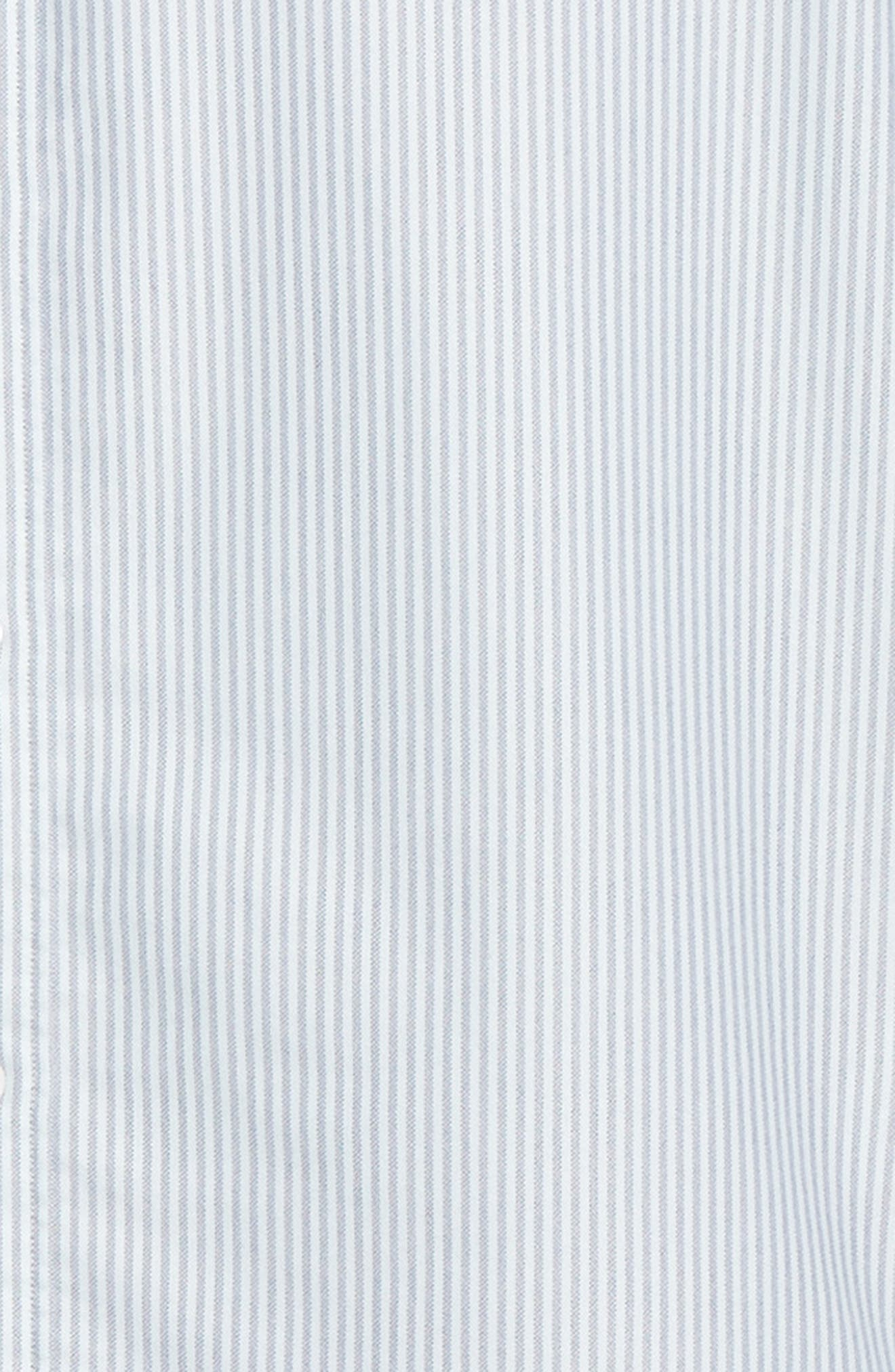 Trim Fit Bengal Stripe Sport Shirt,                             Alternate thumbnail 6, color,                             BLUE ENSIGN MINT STRIPE