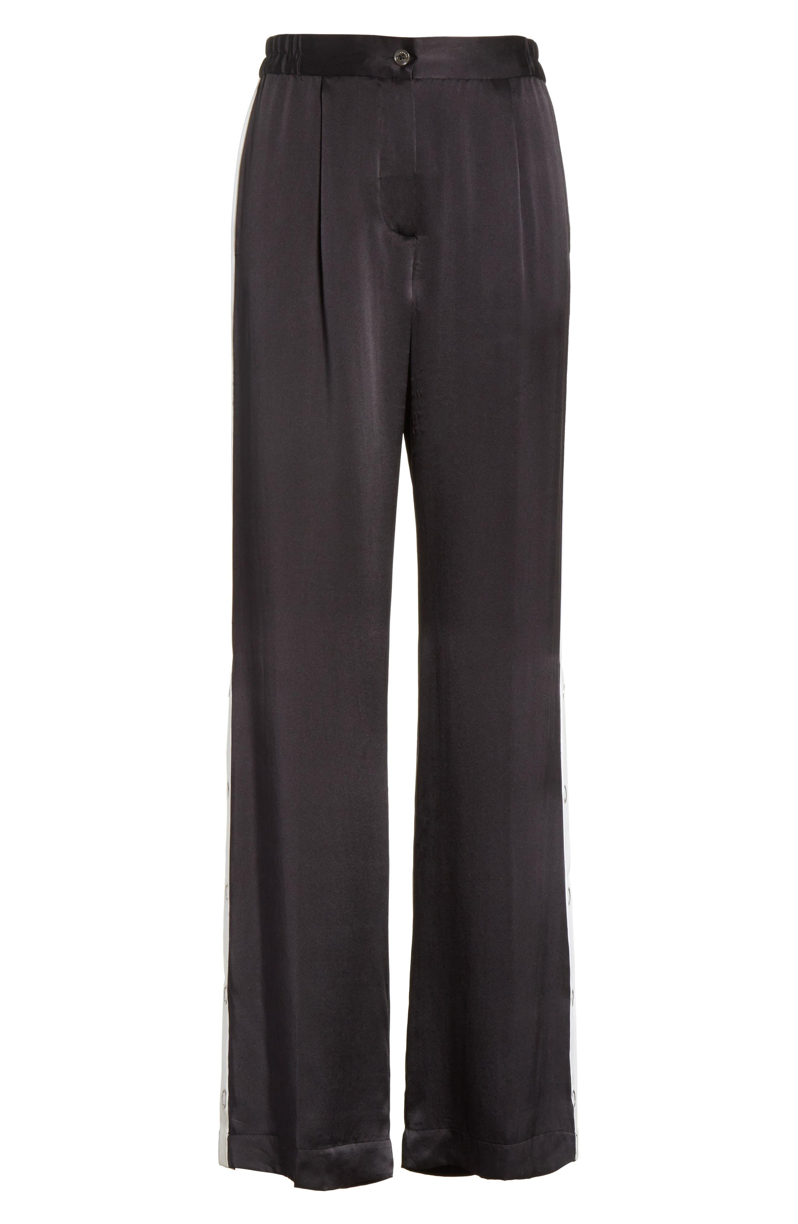 Arwen Wide Leg Silk Pants,                             Alternate thumbnail 6, color,                             003