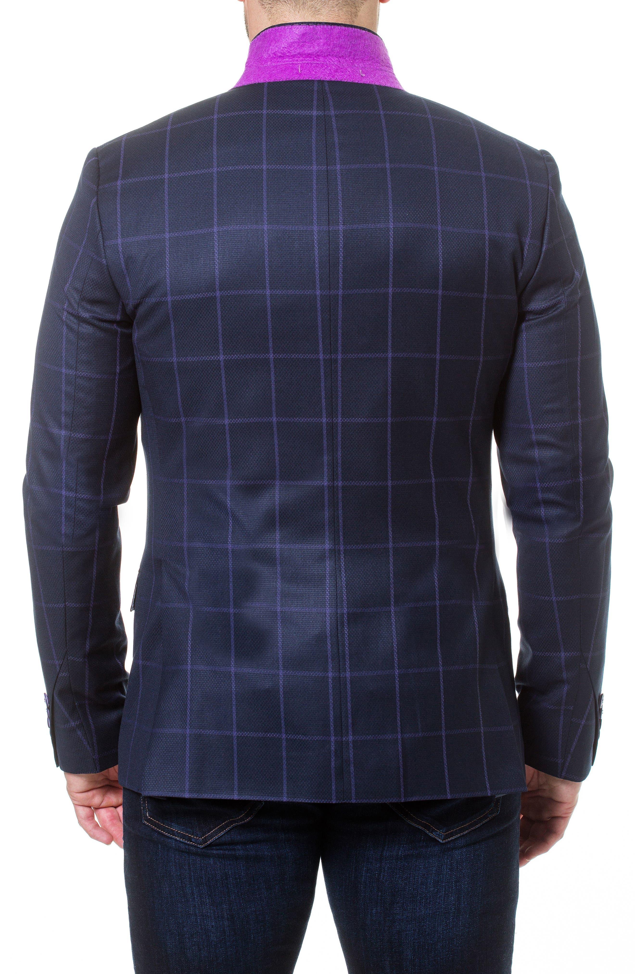 Descartes Check Linen & Cotton Blend Sport Coat,                             Alternate thumbnail 5, color,                             420