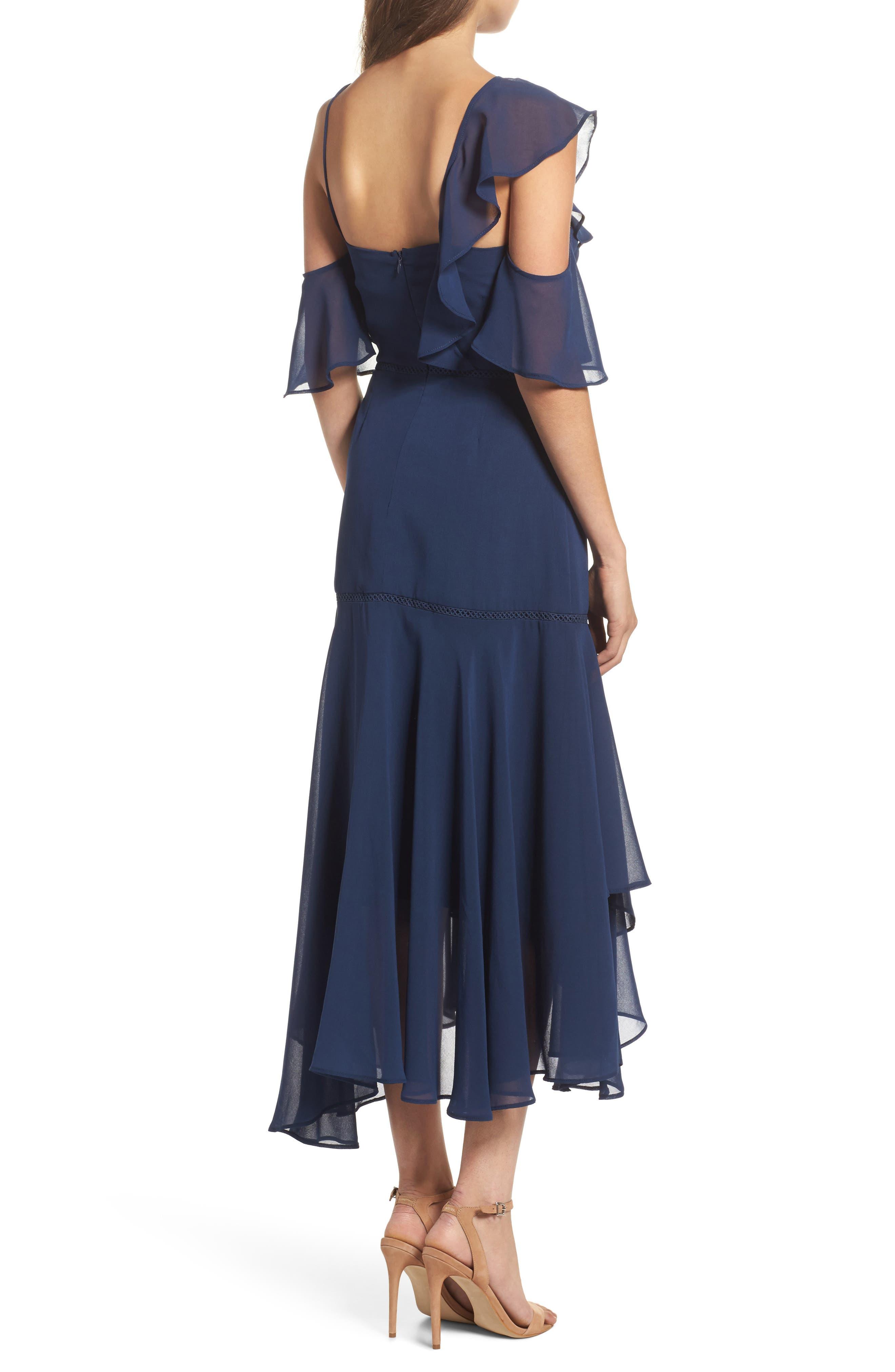 Utopia Cold Shoulder Midi Dress,                             Alternate thumbnail 2, color,                             435