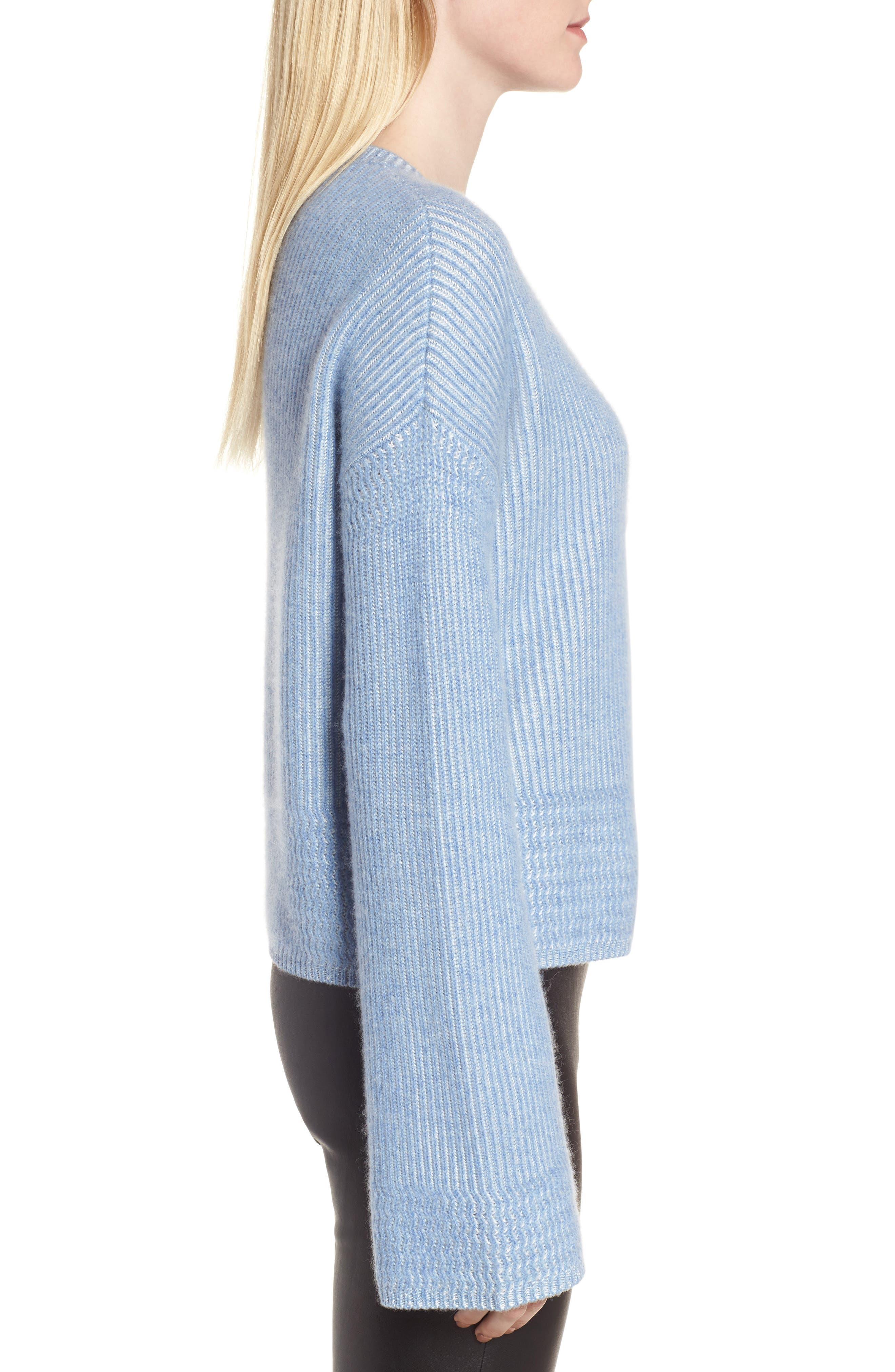 Cashmere & Silk Blend Plaited Pullover,                             Alternate thumbnail 3, color,                             420