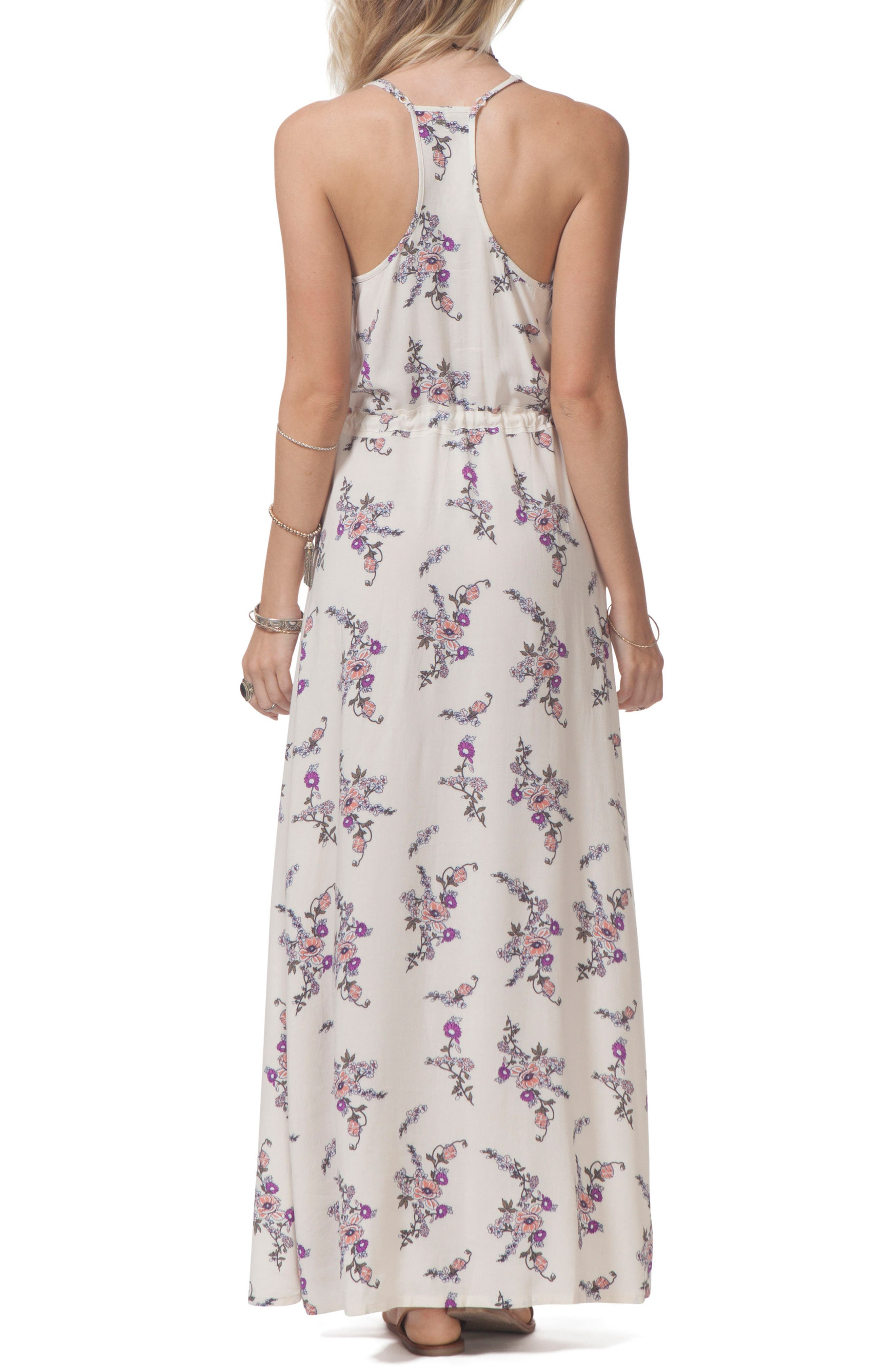 Malia Floral Print Maxi Dress,                             Alternate thumbnail 2, color,                             111