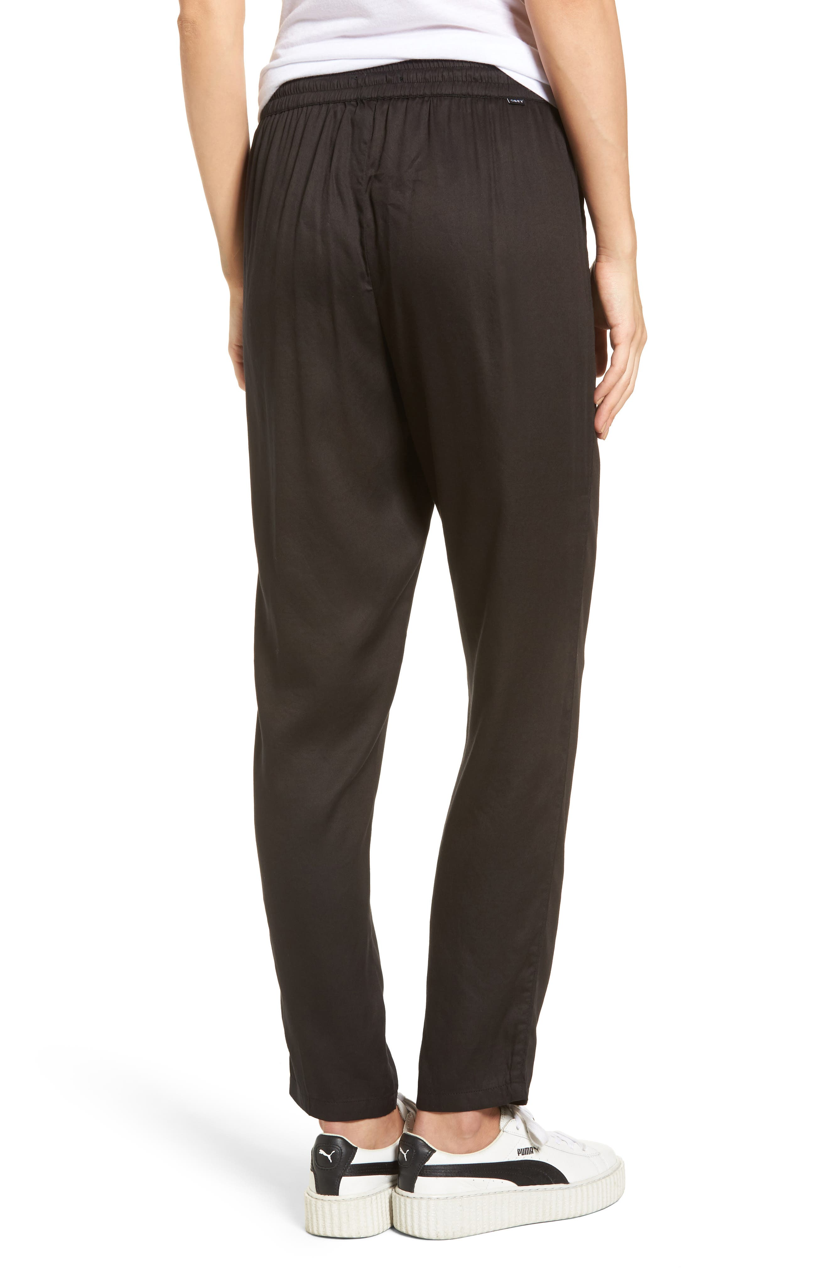 Savoy Satin Pants,                             Alternate thumbnail 2, color,                             001