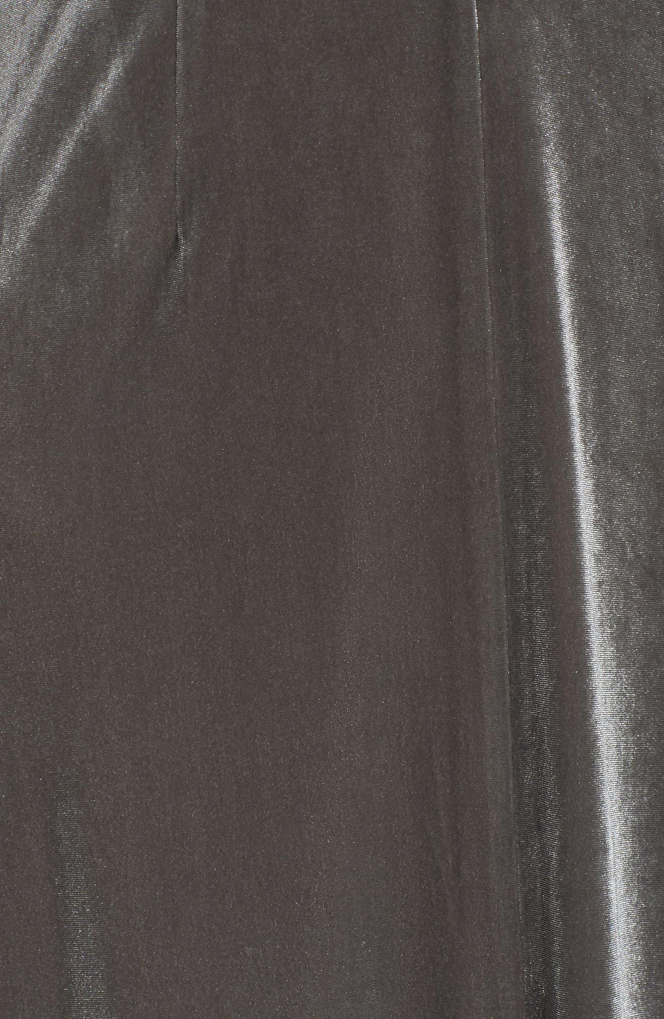 Velvet Lace Up Dress,                             Alternate thumbnail 5, color,                             039