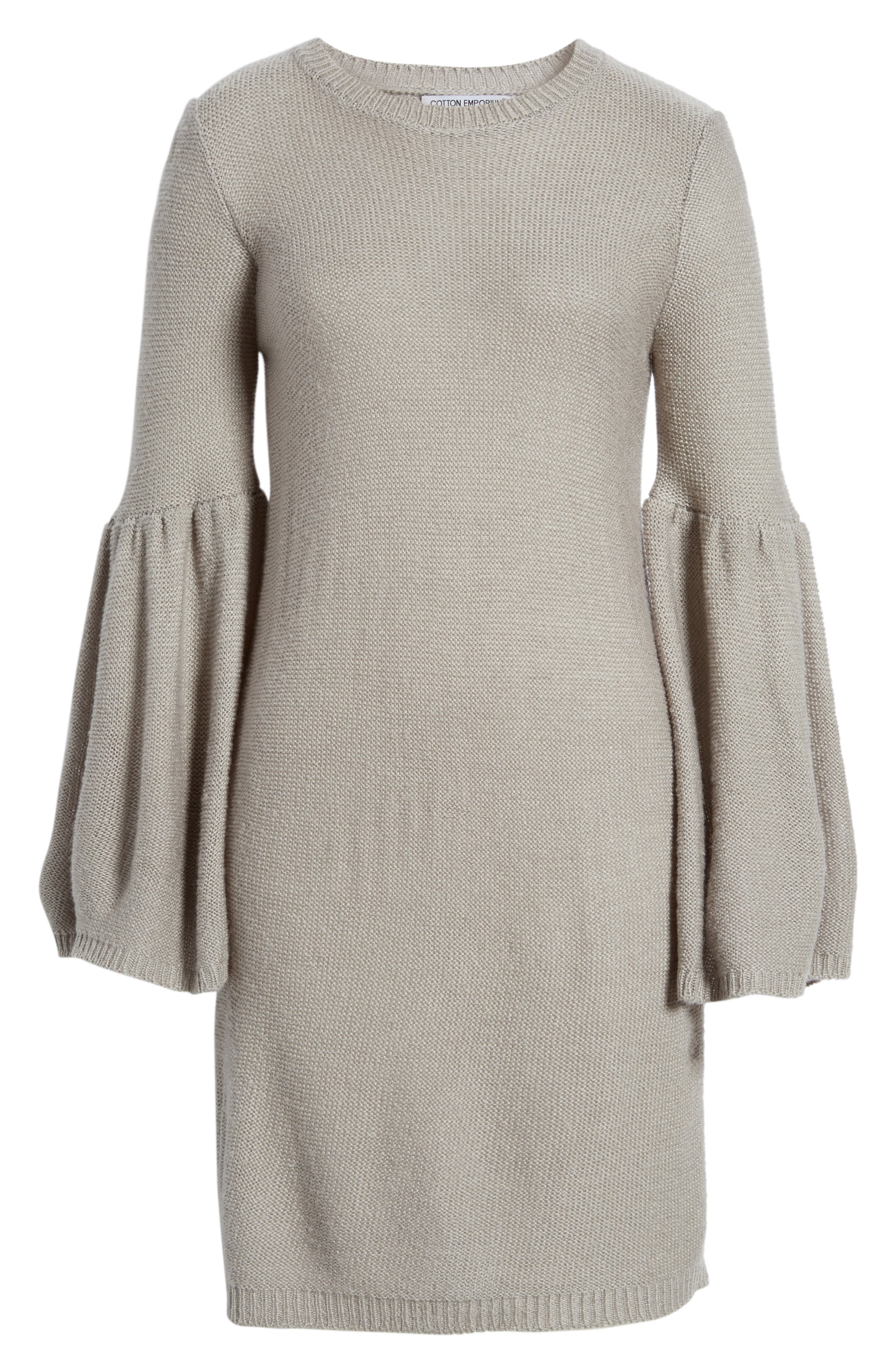 Bell Sleeve Sweater Dress,                             Alternate thumbnail 11, color,
