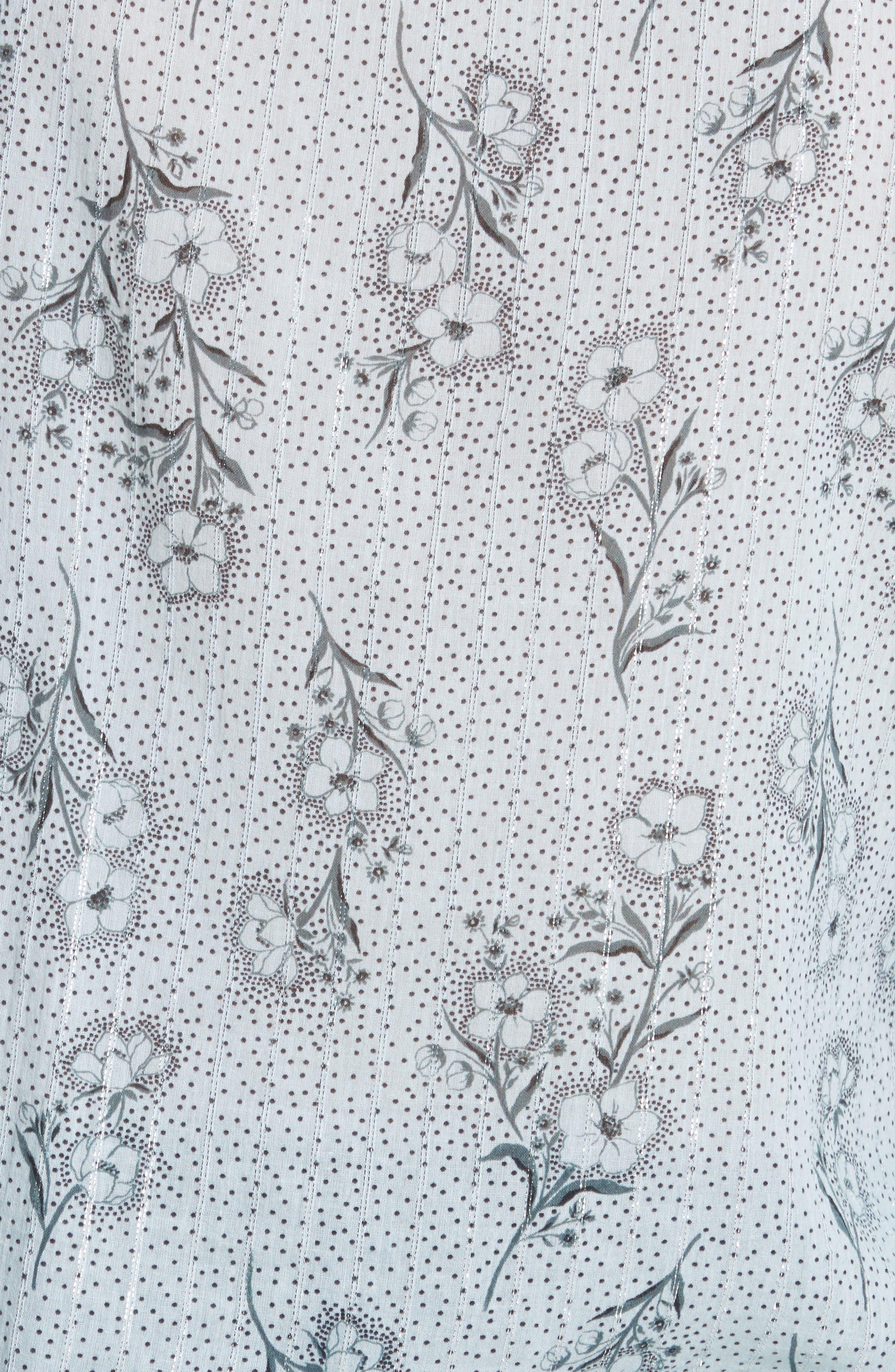 Jasmine Print Ruffle Top,                             Alternate thumbnail 5, color,                             424