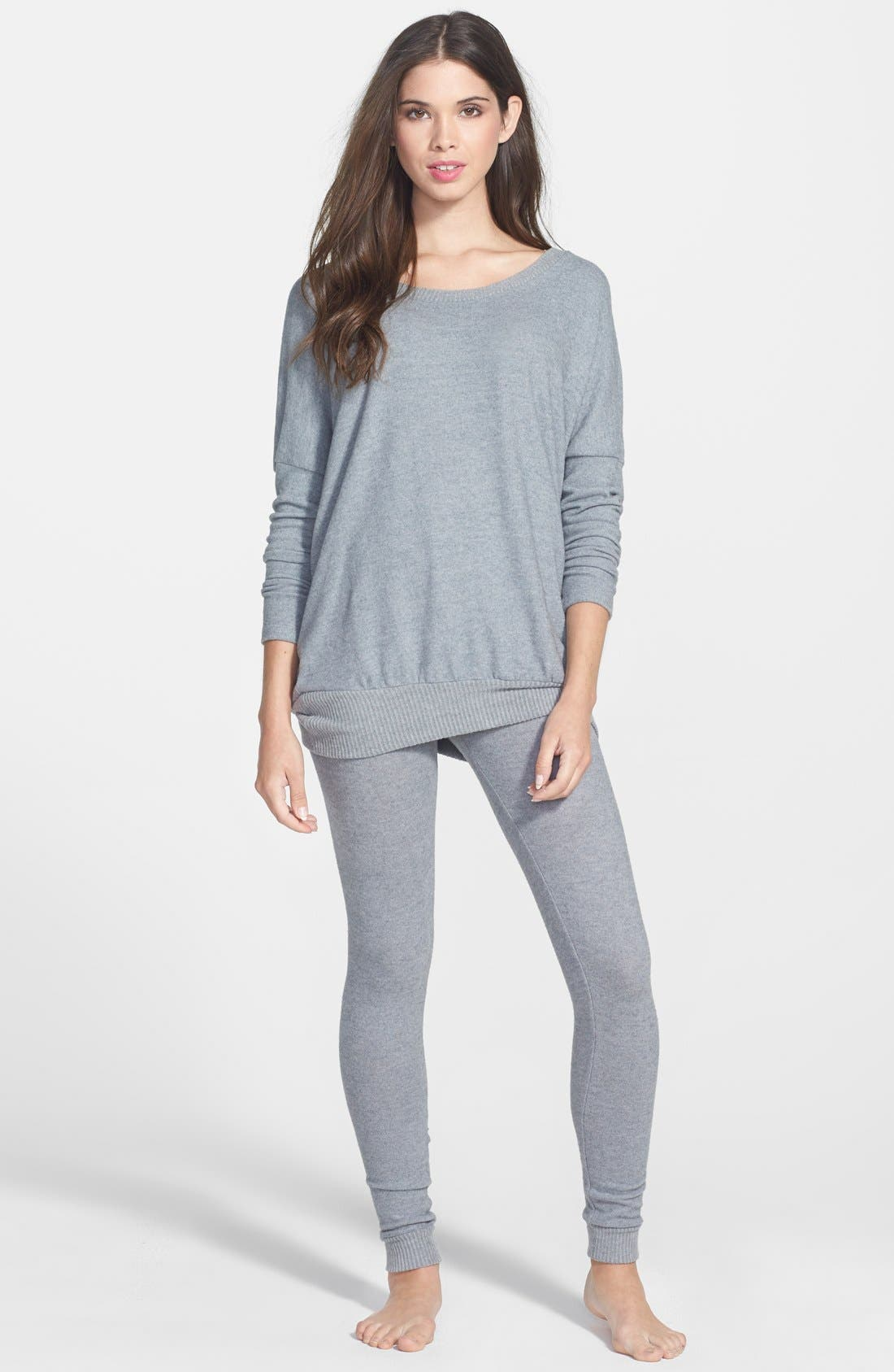 'Cozy Time' Slouchy Long Sleeve Tee,                             Alternate thumbnail 17, color,