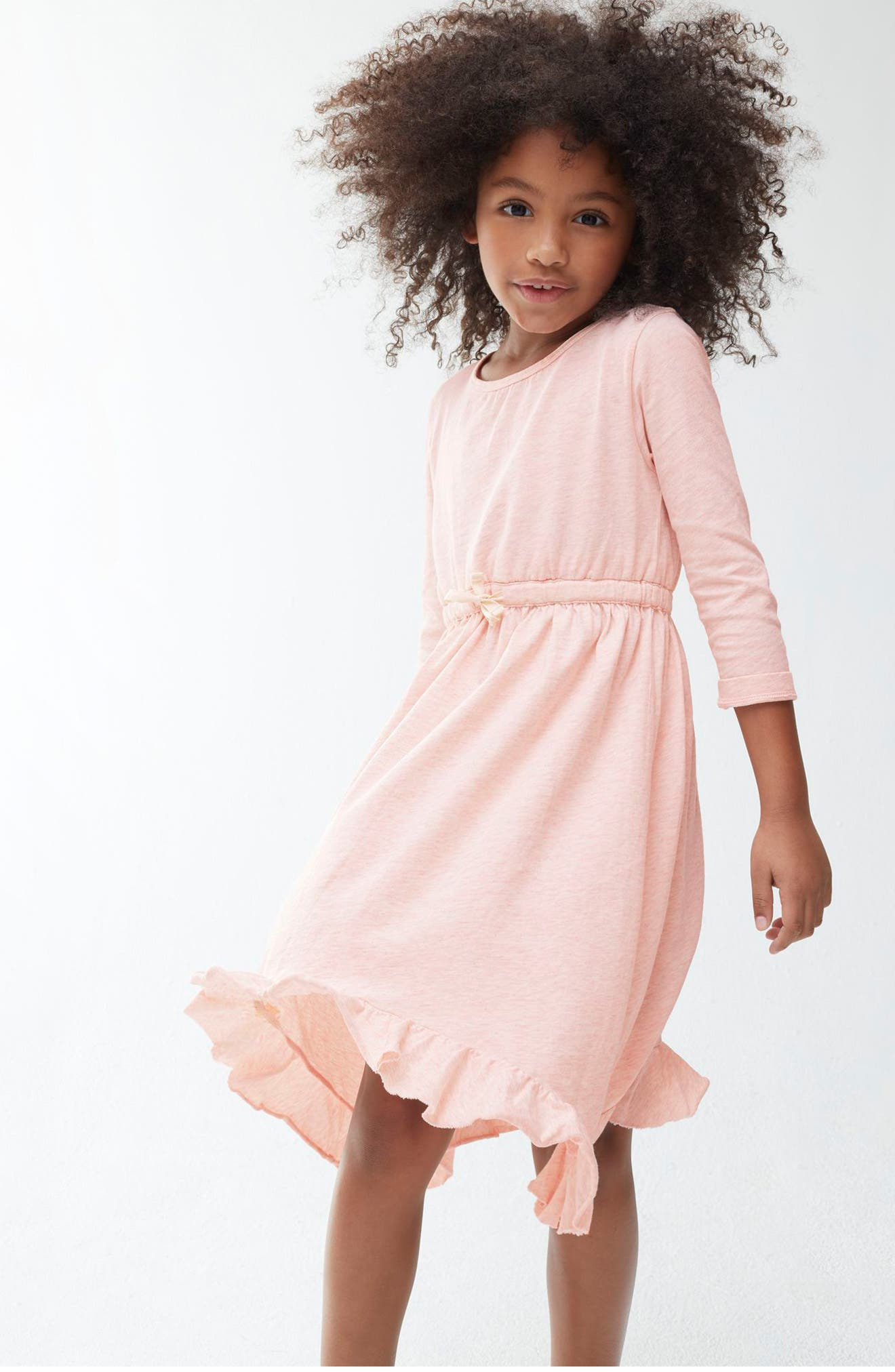 Ruffle Hem Dress,                             Alternate thumbnail 5, color,