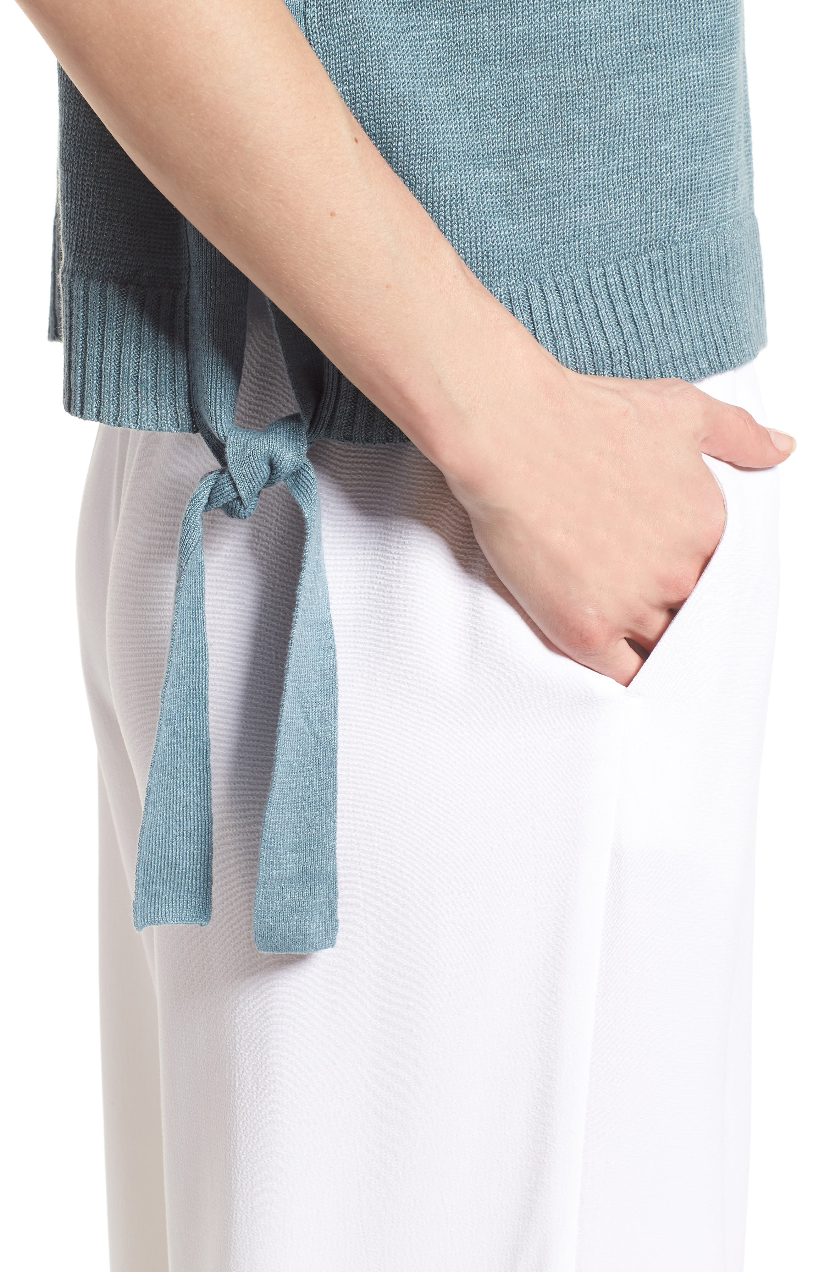 Short Organic Linen Poncho Top,                             Alternate thumbnail 20, color,