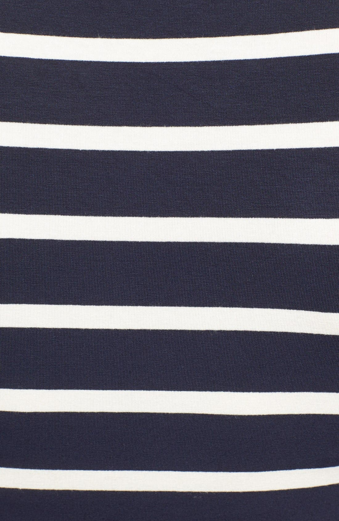 'Wendy' Nursing Top,                             Alternate thumbnail 5, color,                             UNEVEN NAVY STRIPE