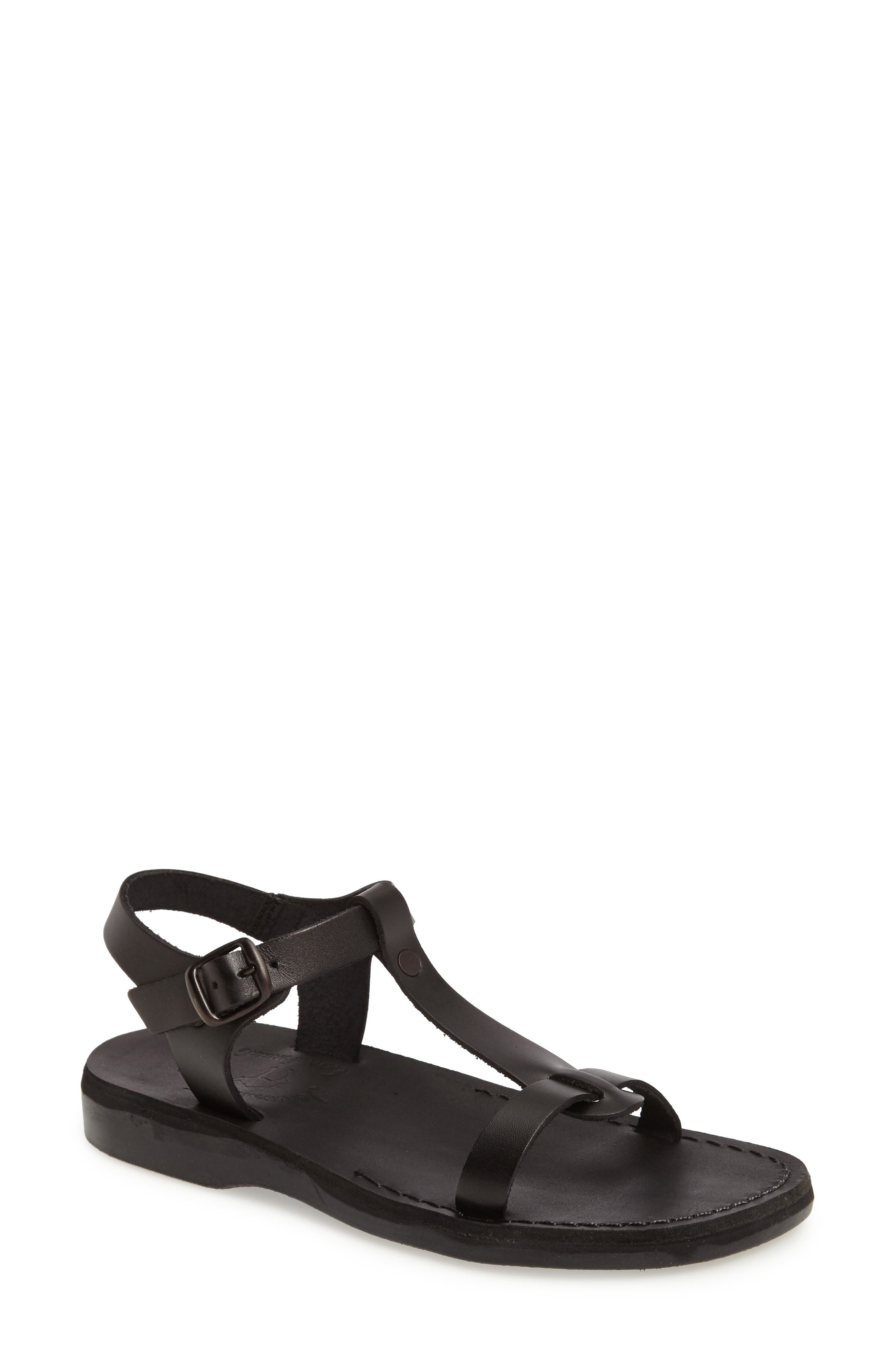 Bathsheba T-Strap Sandal,                             Main thumbnail 1, color,                             001