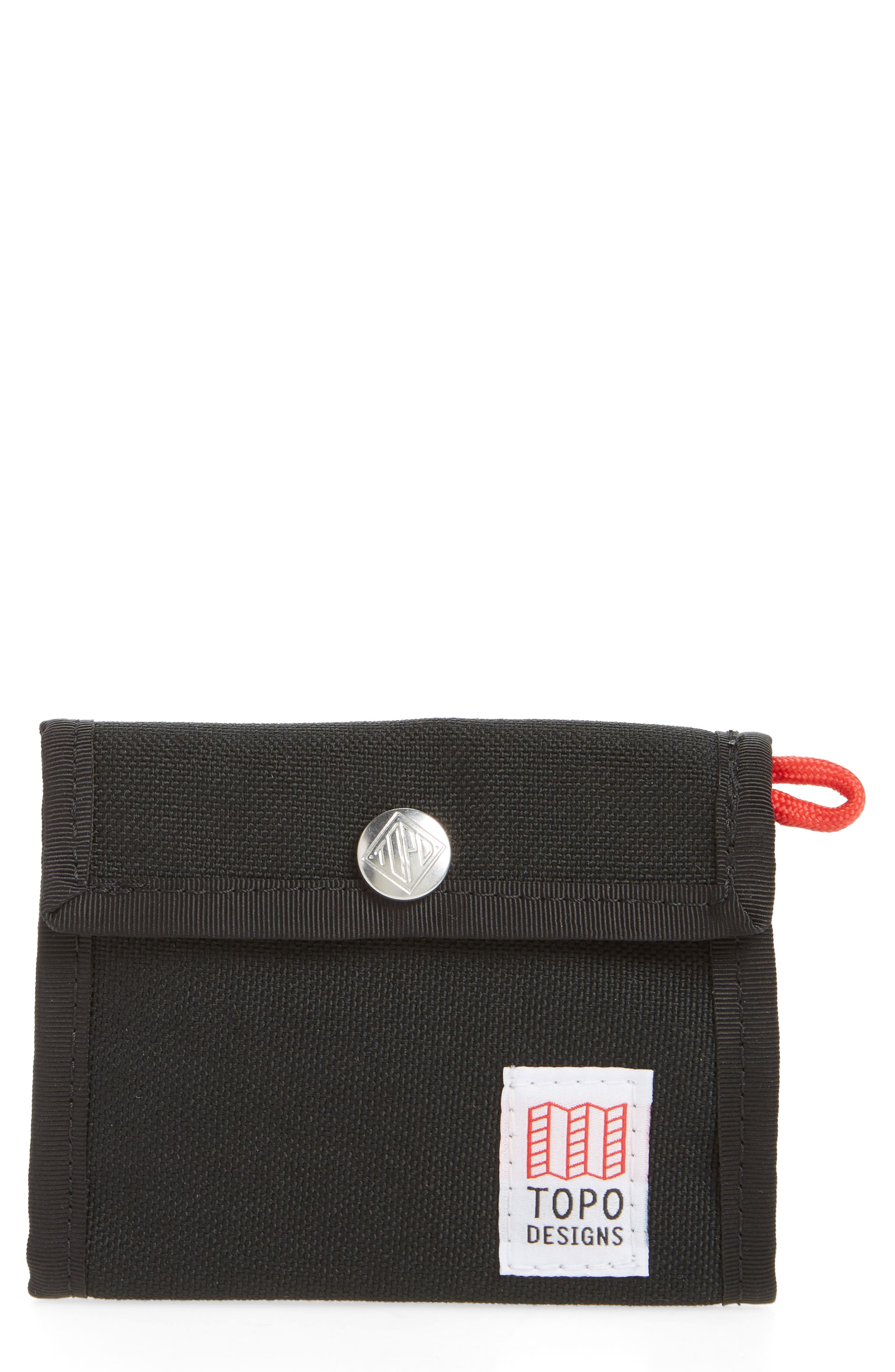 Snap Wallet,                             Main thumbnail 1, color,                             BLACK