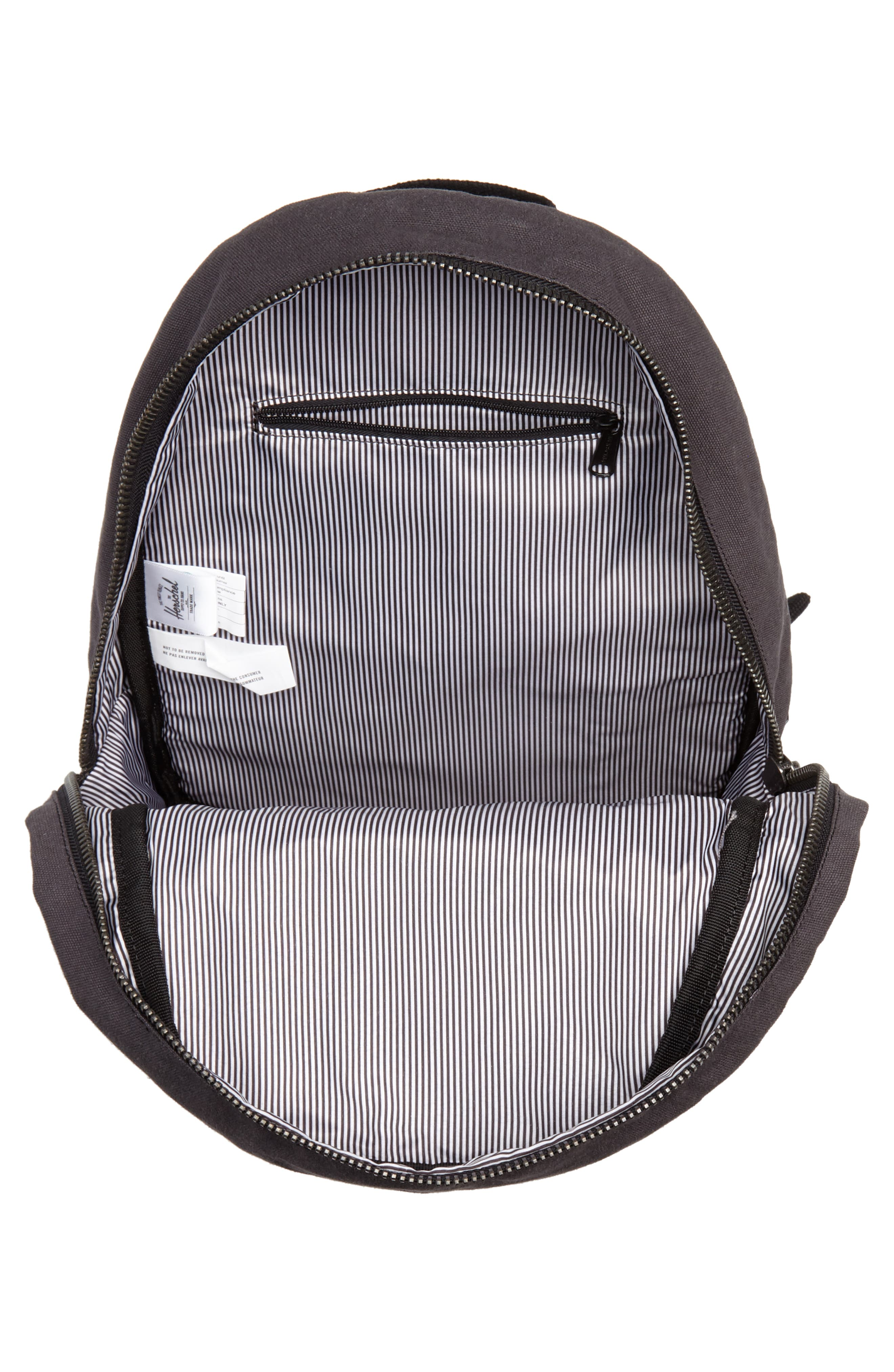 X-Small Grove Cotton Canvas Backpack,                             Alternate thumbnail 4, color,                             001