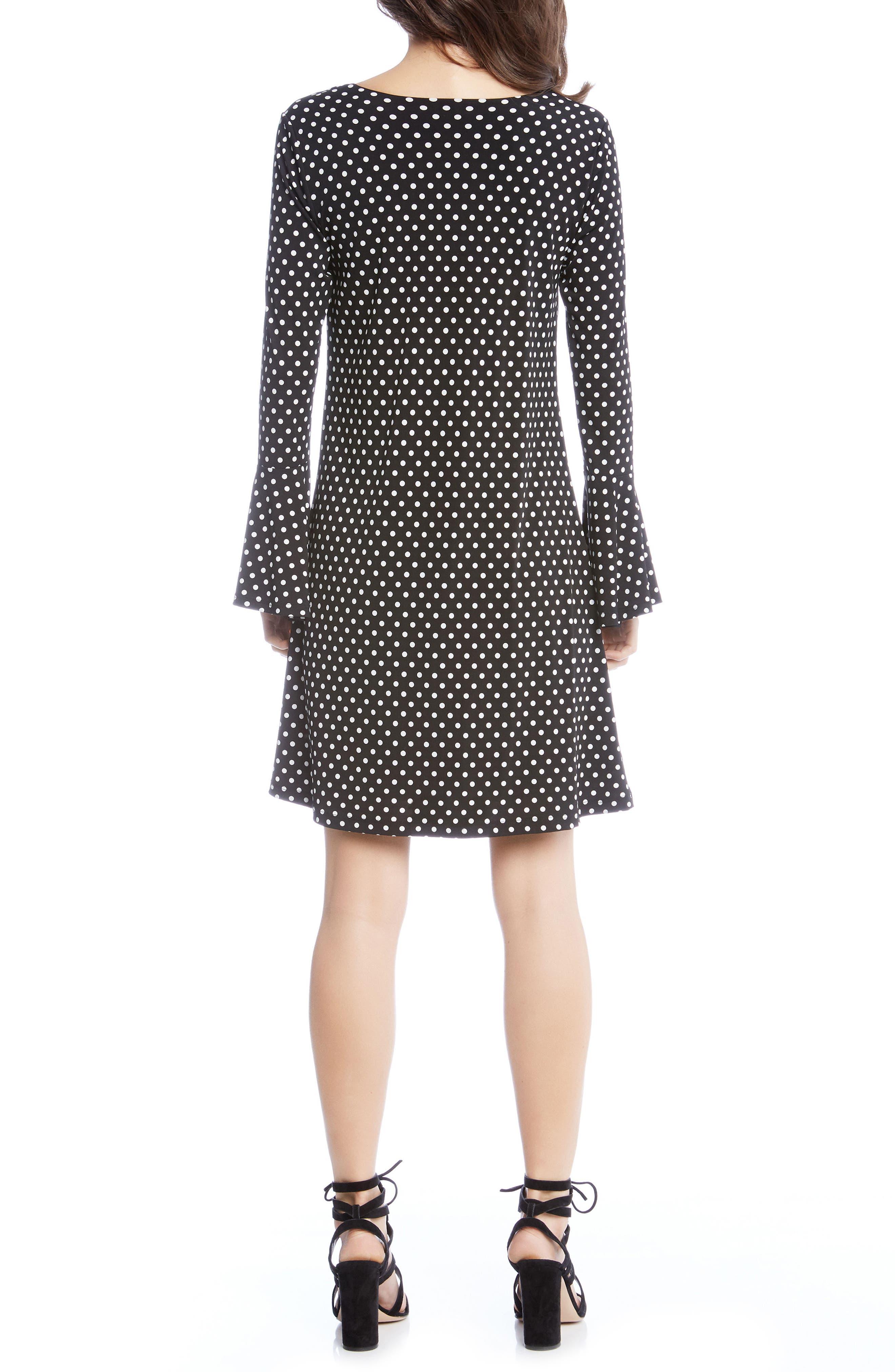 Polka Dot A-Line Dress,                             Alternate thumbnail 2, color,