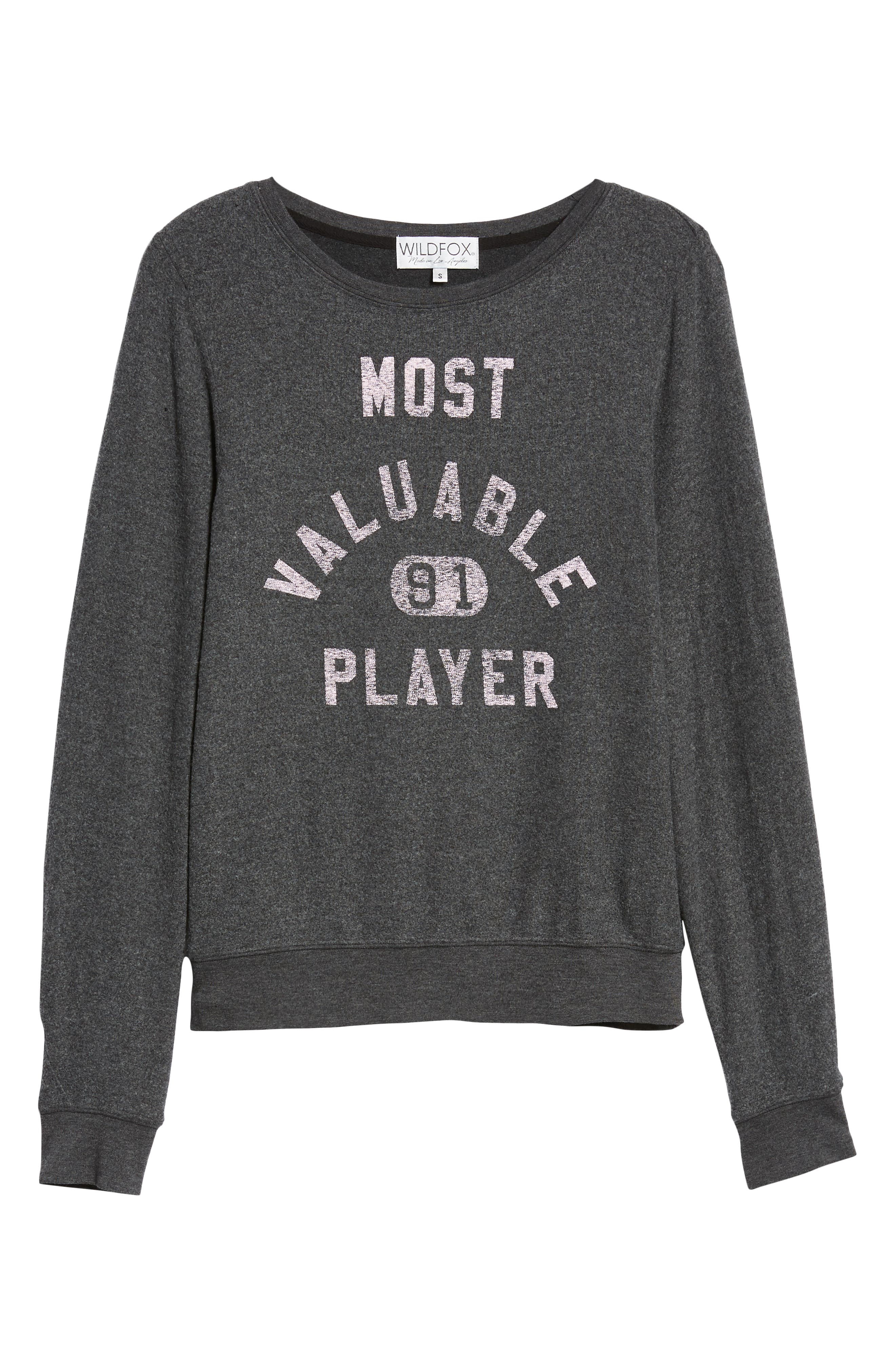 Most Valuable Player Baggy Beach Jumper Sweatshirt,                             Alternate thumbnail 6, color,                             002
