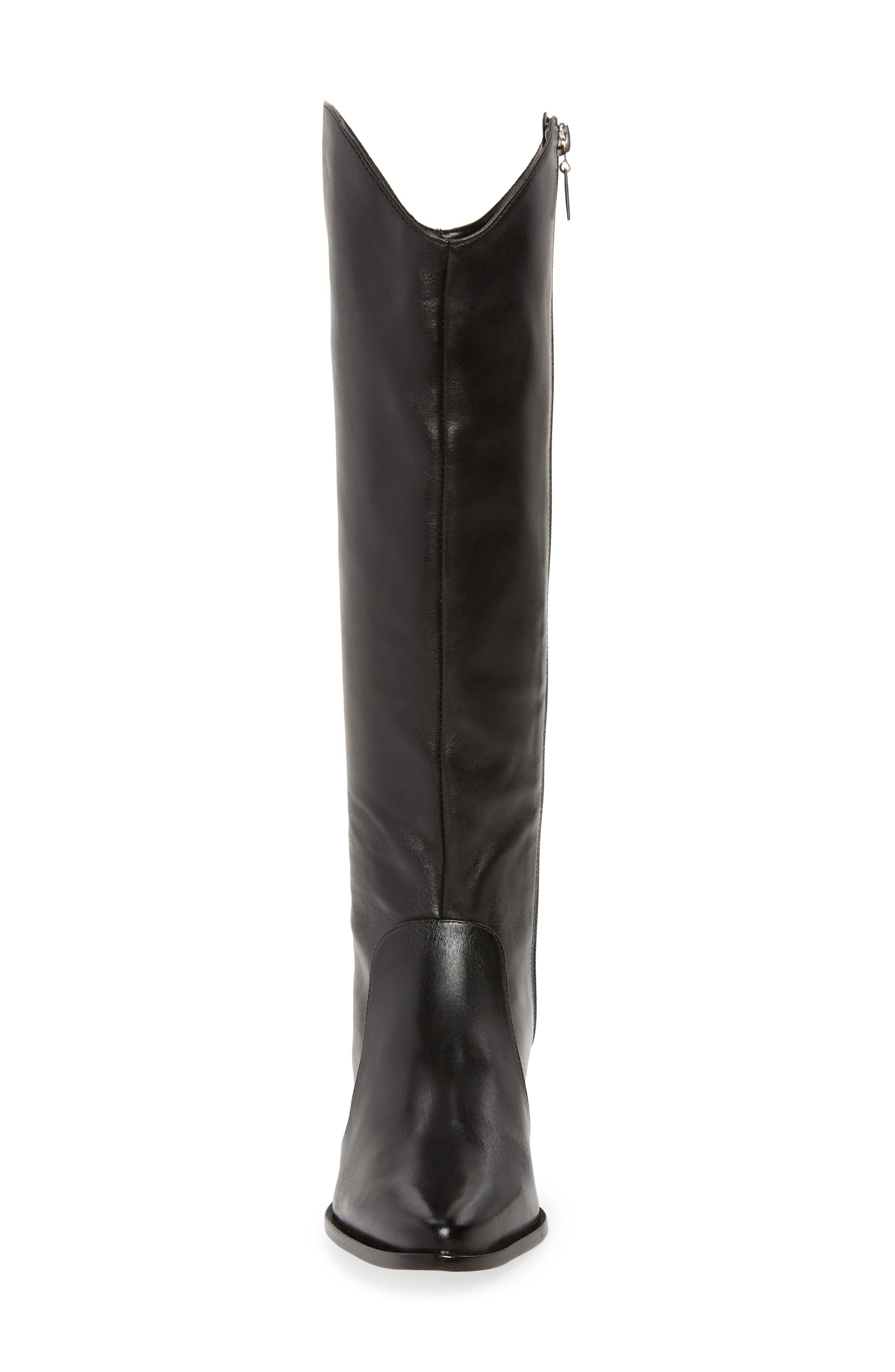 Fantinne Knee High Boot,                             Alternate thumbnail 4, color,                             BLACK LEATHER