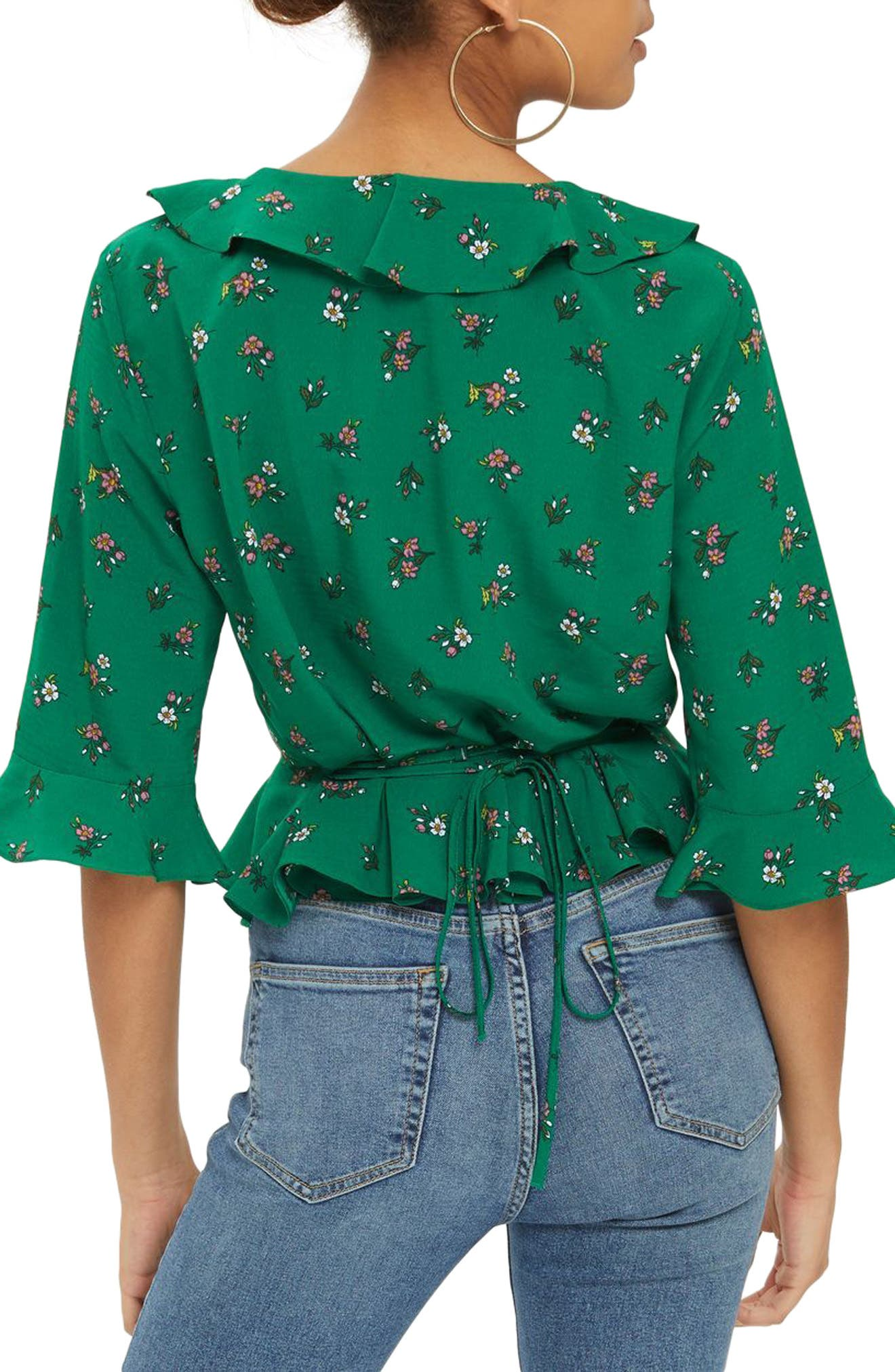 Phoebe Frilly Blouse,                             Alternate thumbnail 9, color,