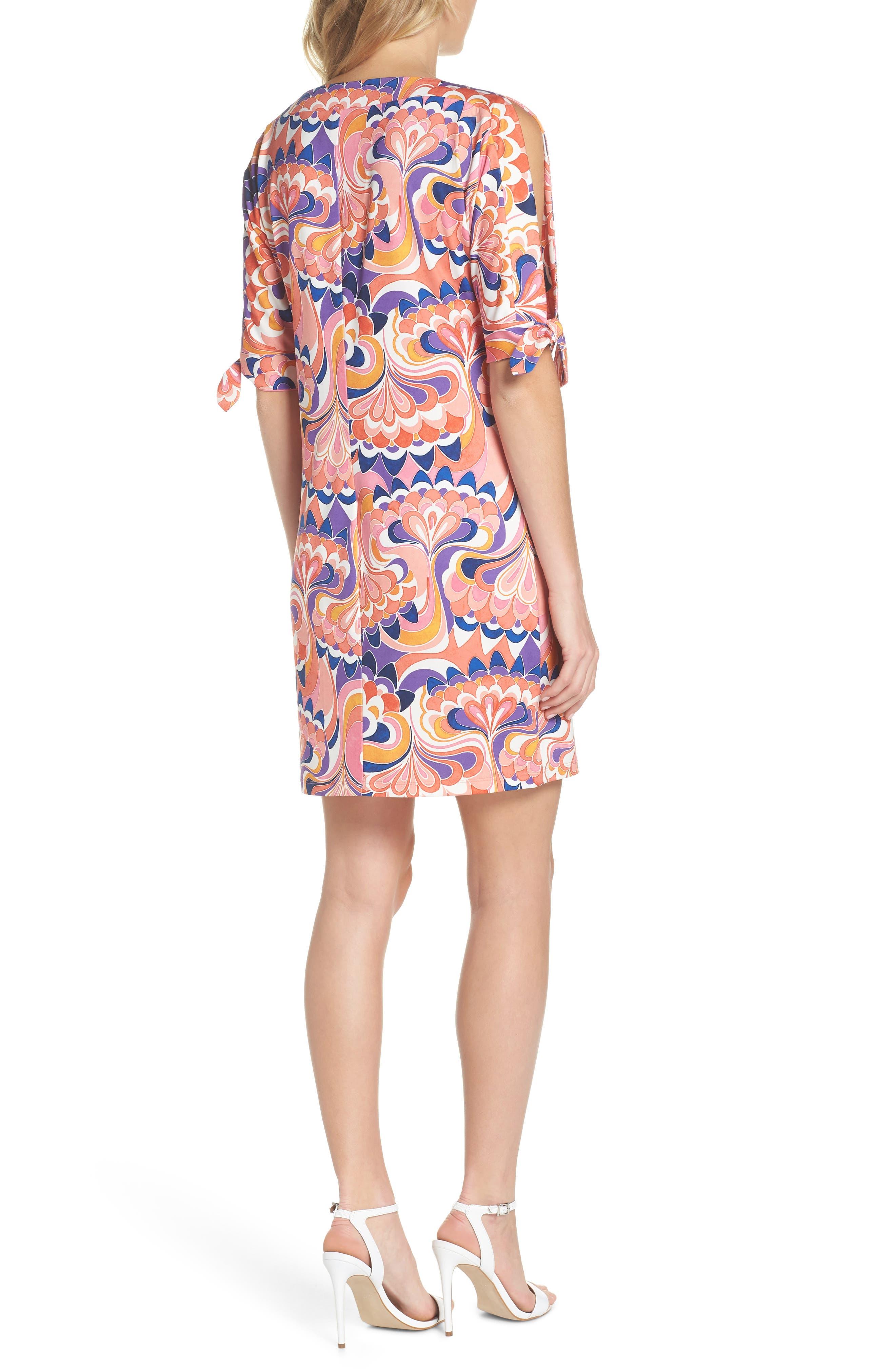 Vinet Floral Jersey Dress,                             Alternate thumbnail 4, color,