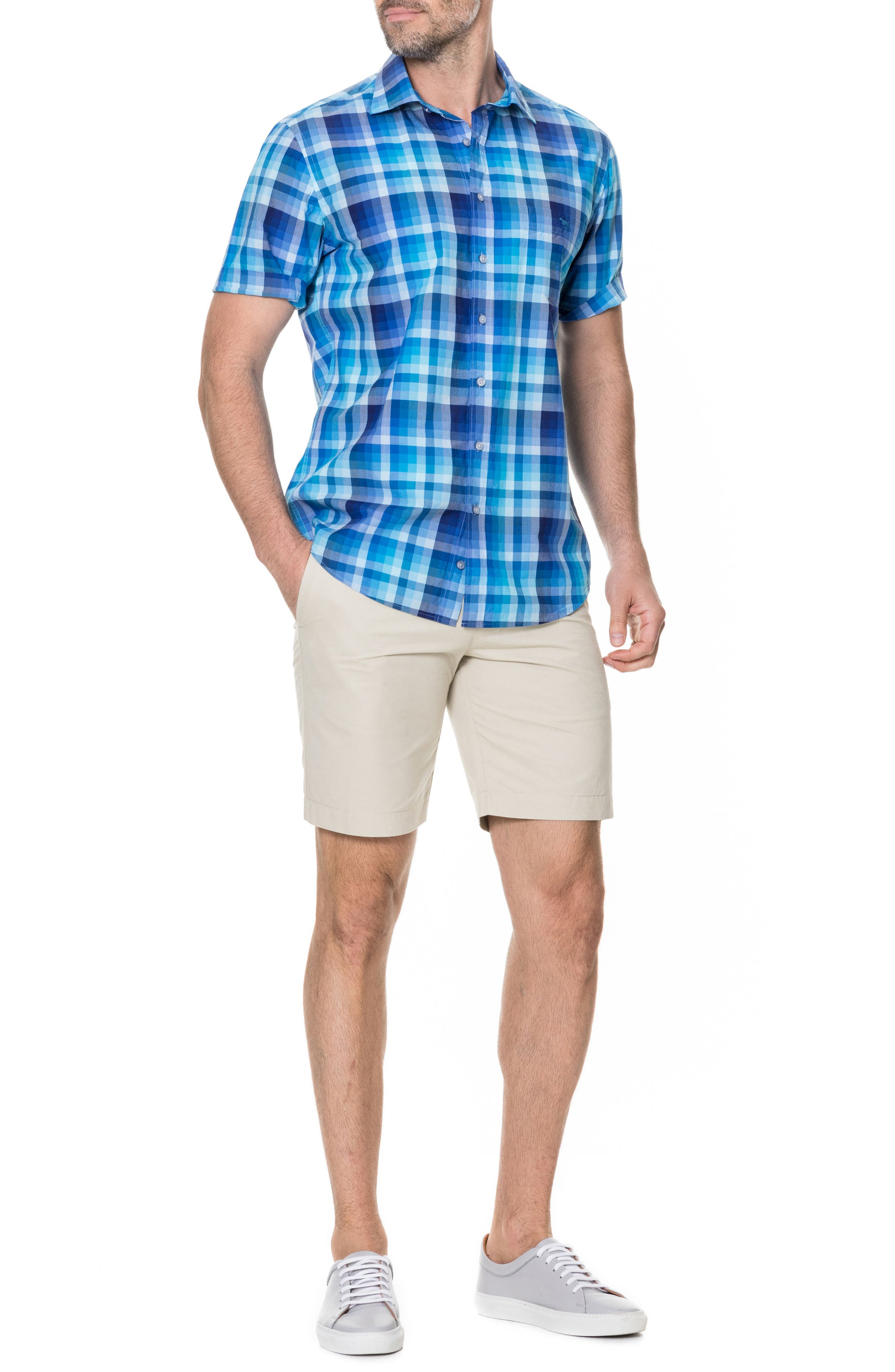 Elderslie Regular Fit Sport Shirt,                             Alternate thumbnail 5, color,                             OCEAN