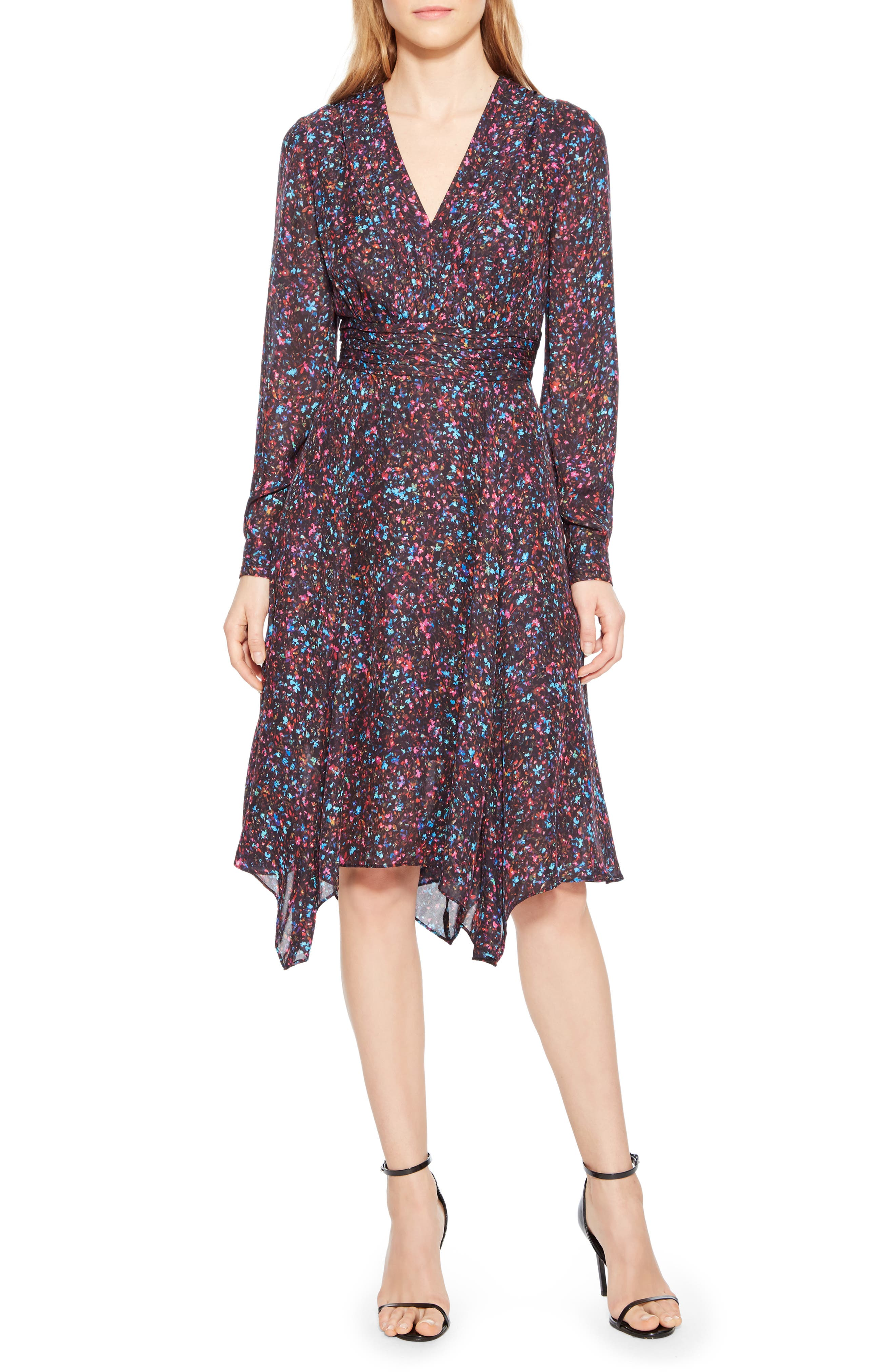 Evanna Floral Print Midi Dress,                         Main,                         color, MINI DITSY