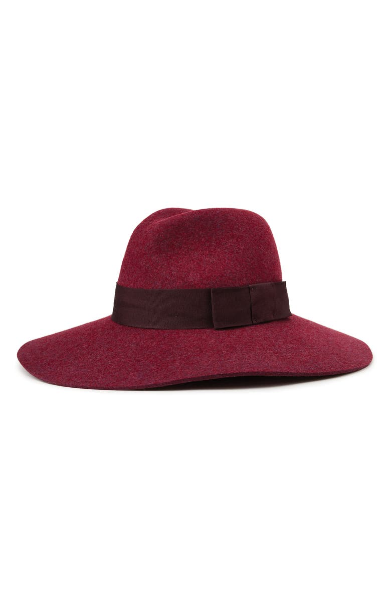 Brixton 'PIPER' FLOPPY WOOL HAT - RED