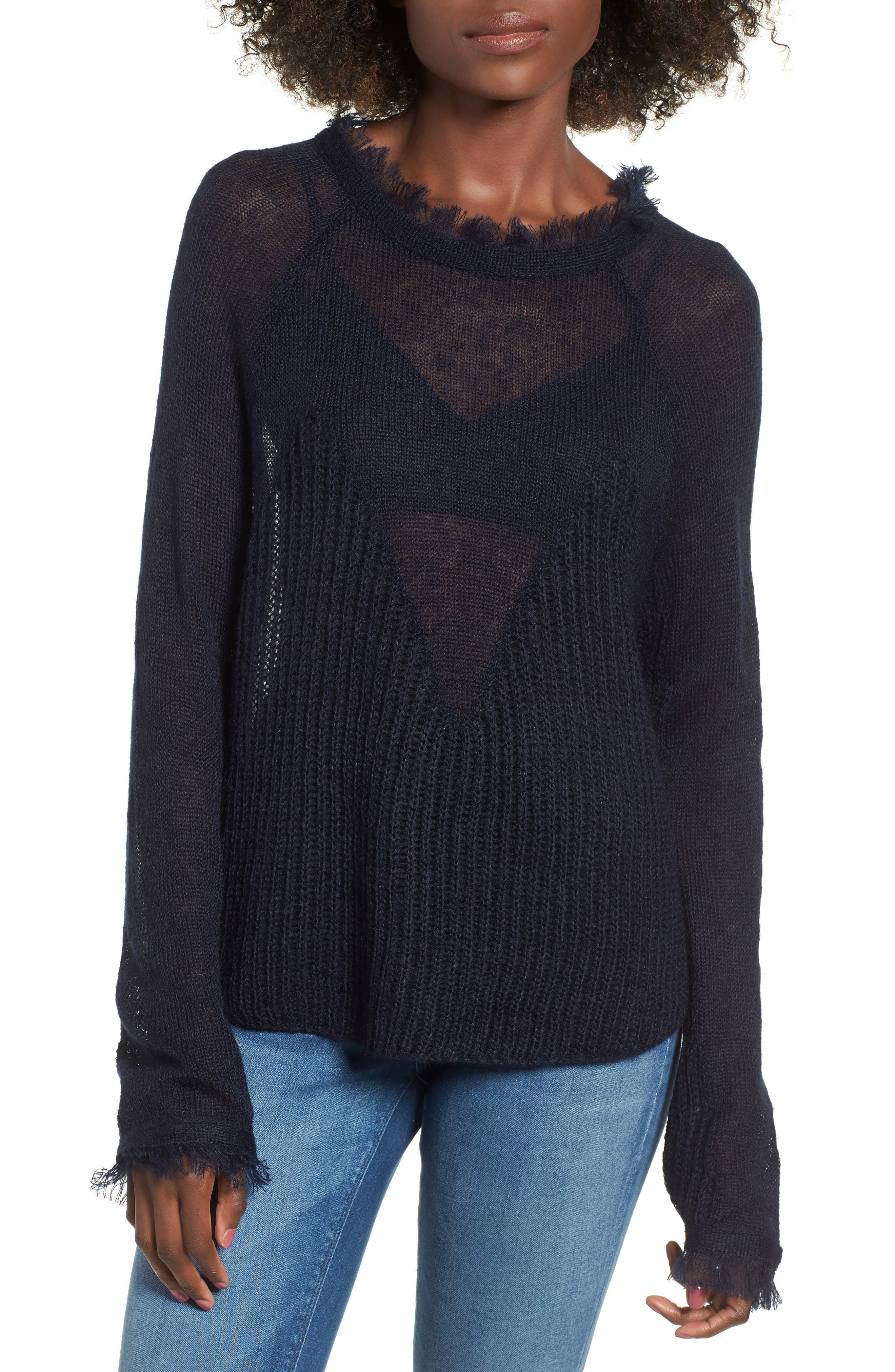 Fringed Sweater,                             Main thumbnail 1, color,                             400