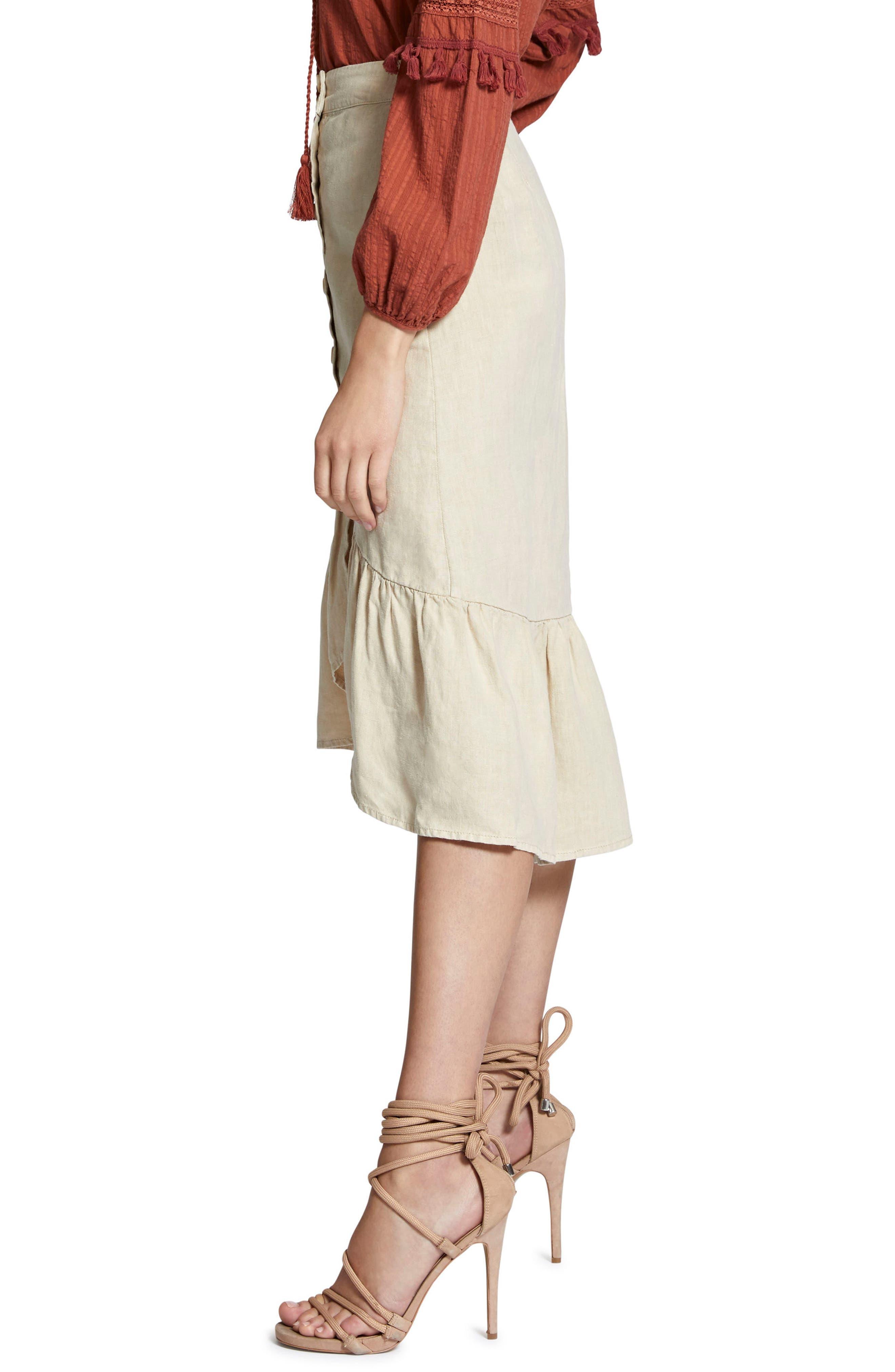 Lola Linen Skirt,                             Alternate thumbnail 3, color,
