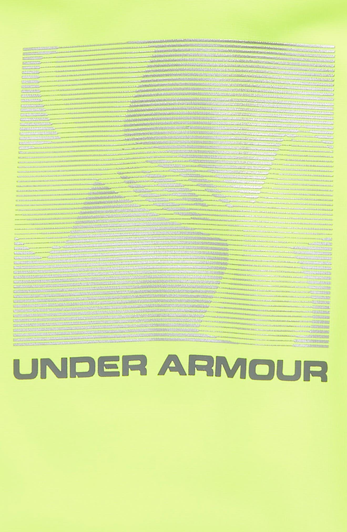 Armour Fleece<sup>®</sup> Logo Graphic Hoodie,                             Alternate thumbnail 2, color,                             HIGH-VIS YELLOW / / GRAPHITE