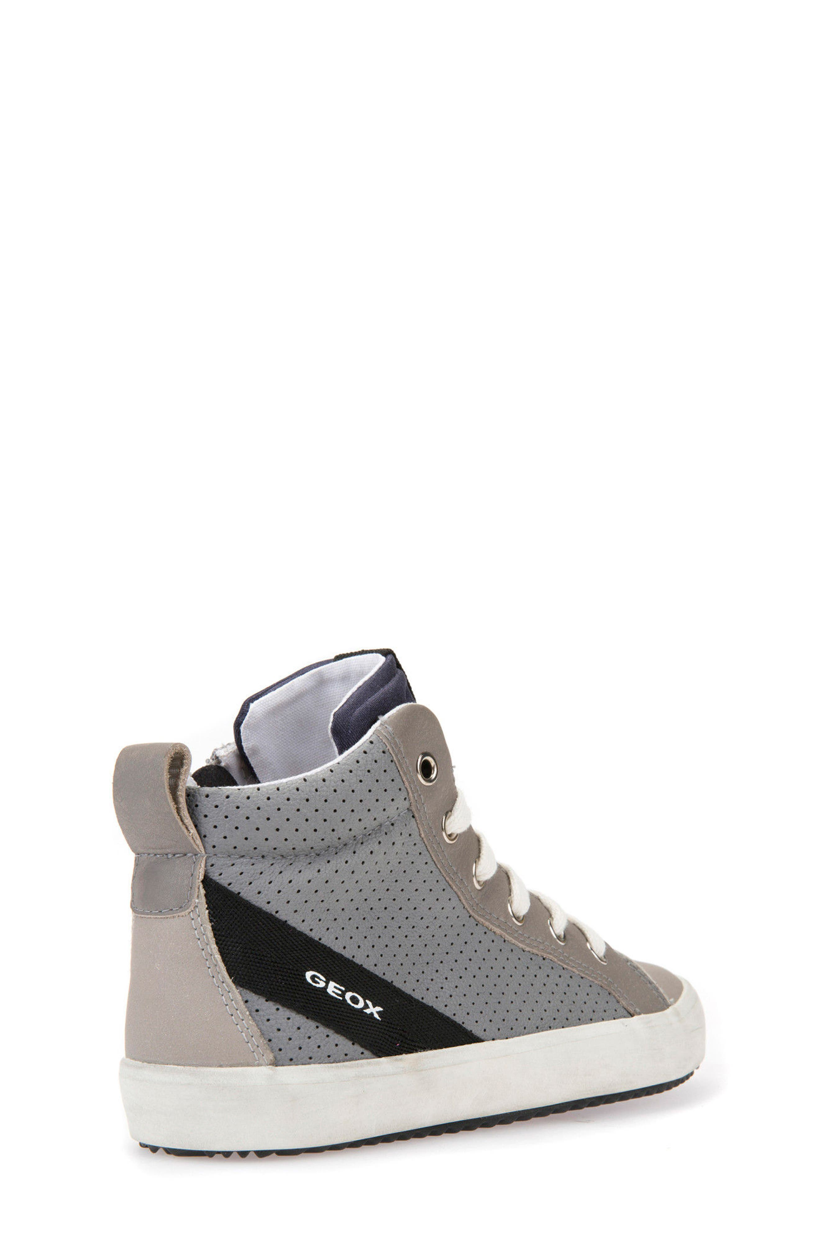 Alonisso Perforated Mid Top Sneaker,                             Alternate thumbnail 2, color,                             GREY/ LIGHT GREY