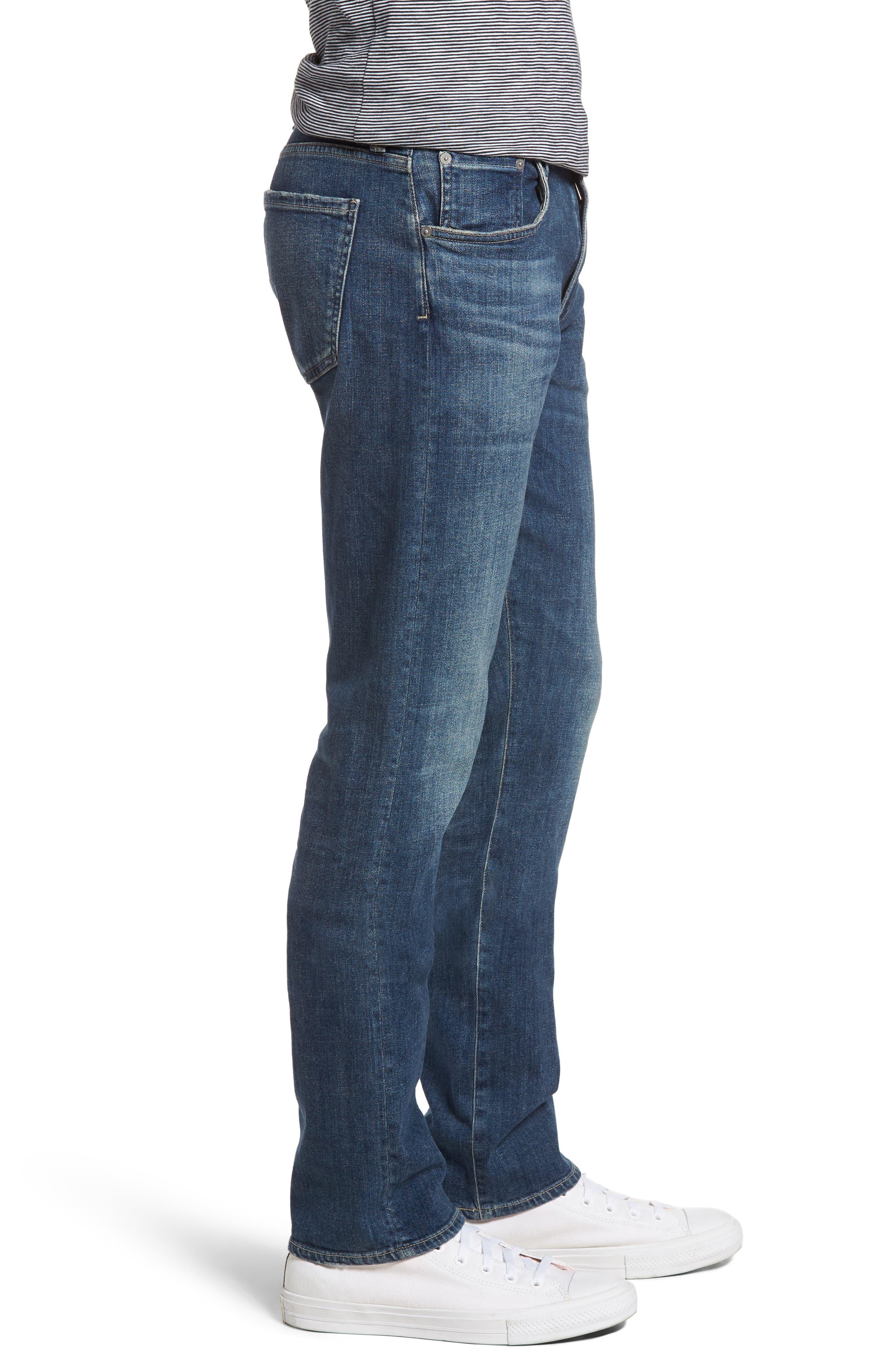 Gage Slim Straight Leg Jeans,                             Alternate thumbnail 3, color,                             REDFORD