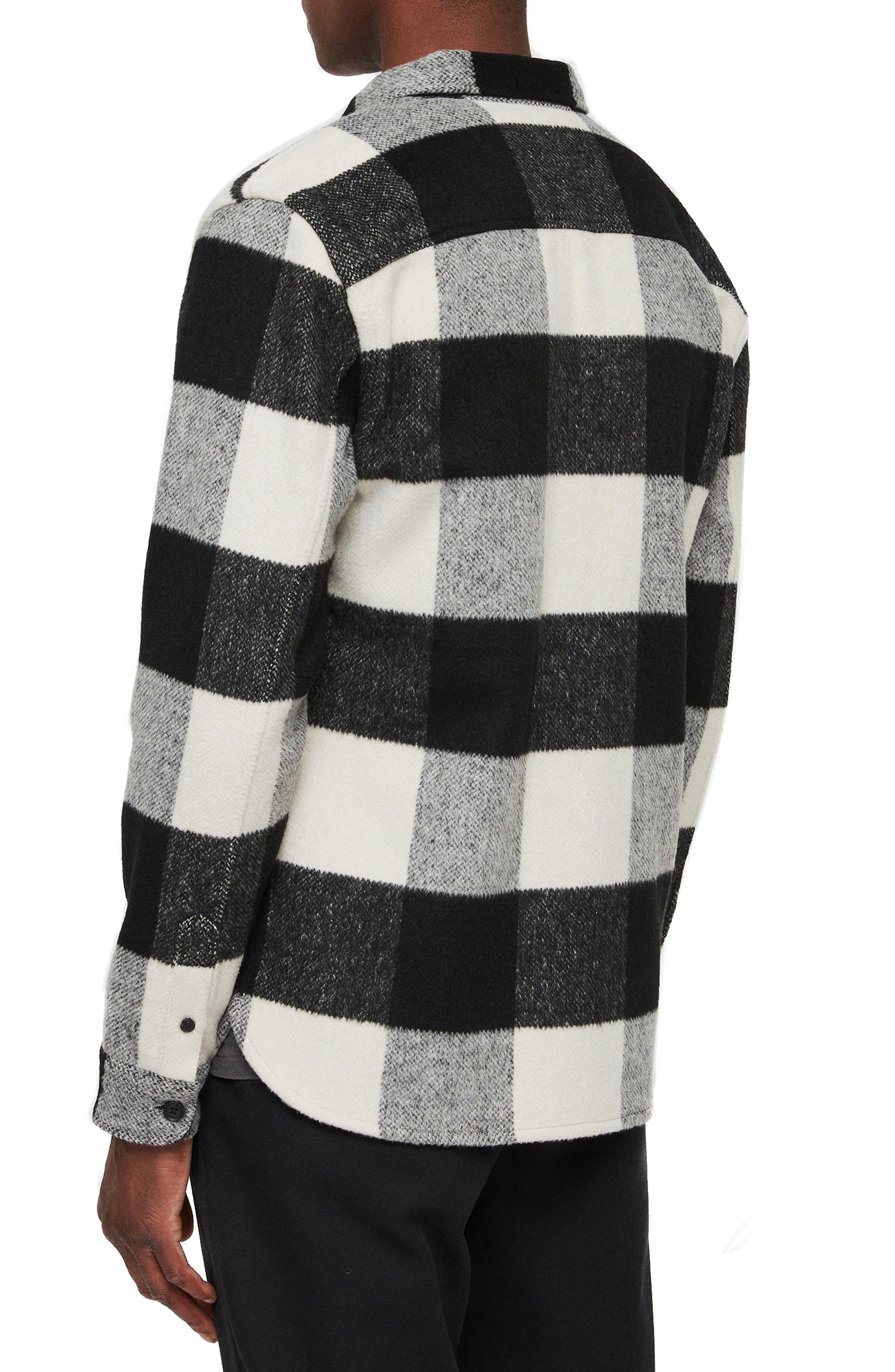 Laona Regular Fit Check Flannel Sport Shirt,                             Alternate thumbnail 3, color,                             ECRU/ BLACK