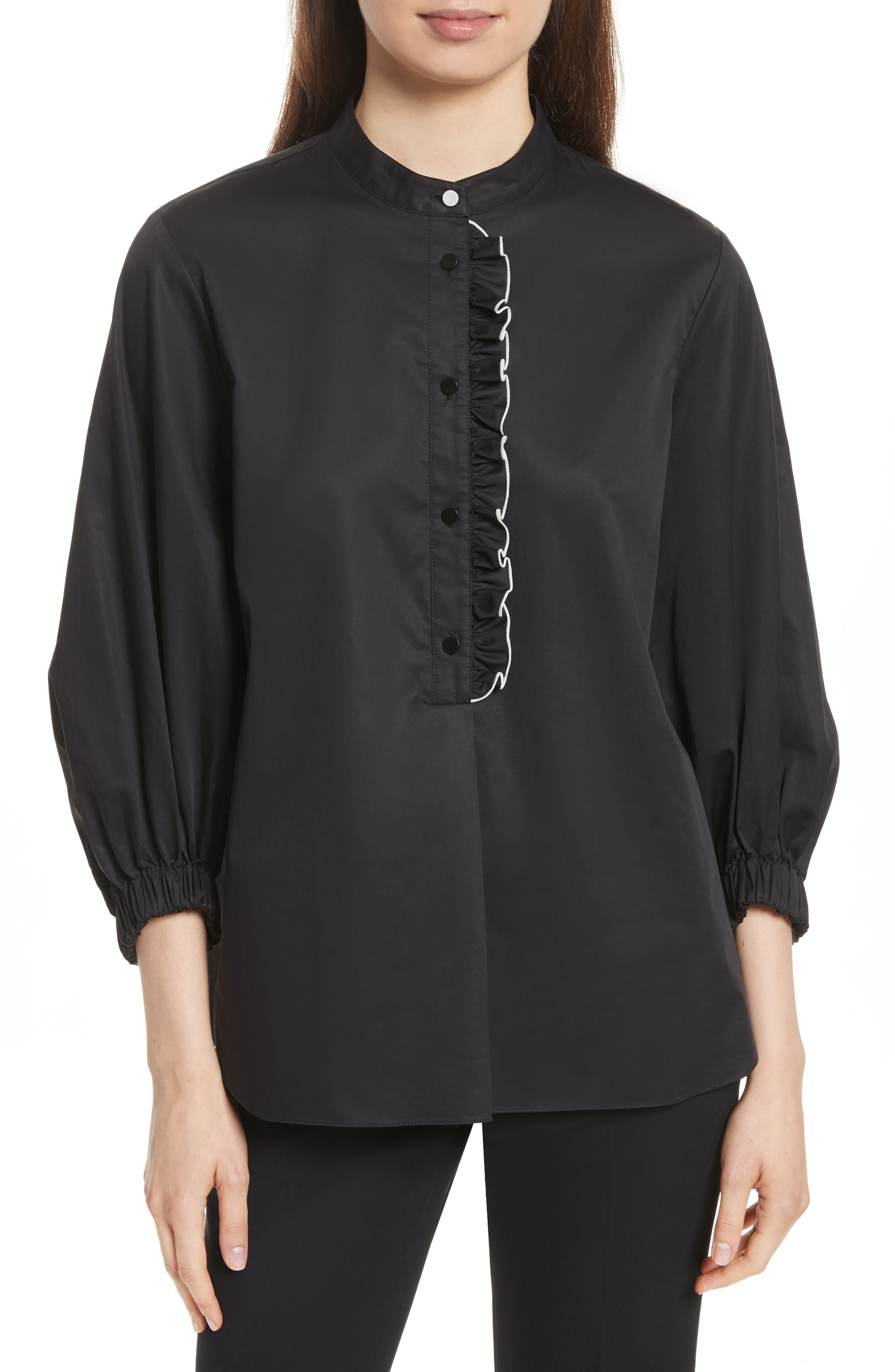Spectator Ruffle Blouse,                         Main,                         color, 001