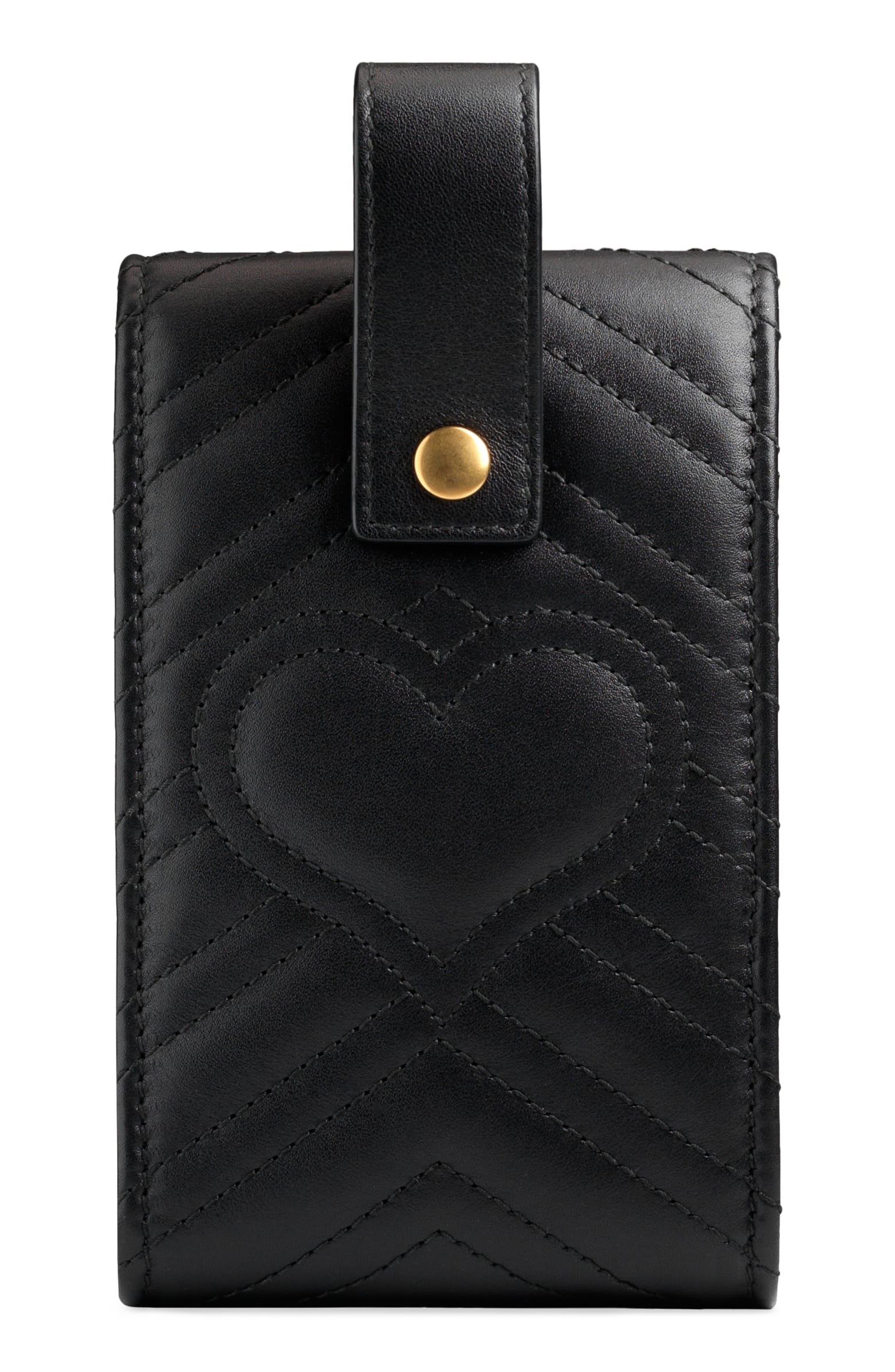 GG Marmont 2.0 Matelassé Leather Phone Case,                             Alternate thumbnail 2, color,