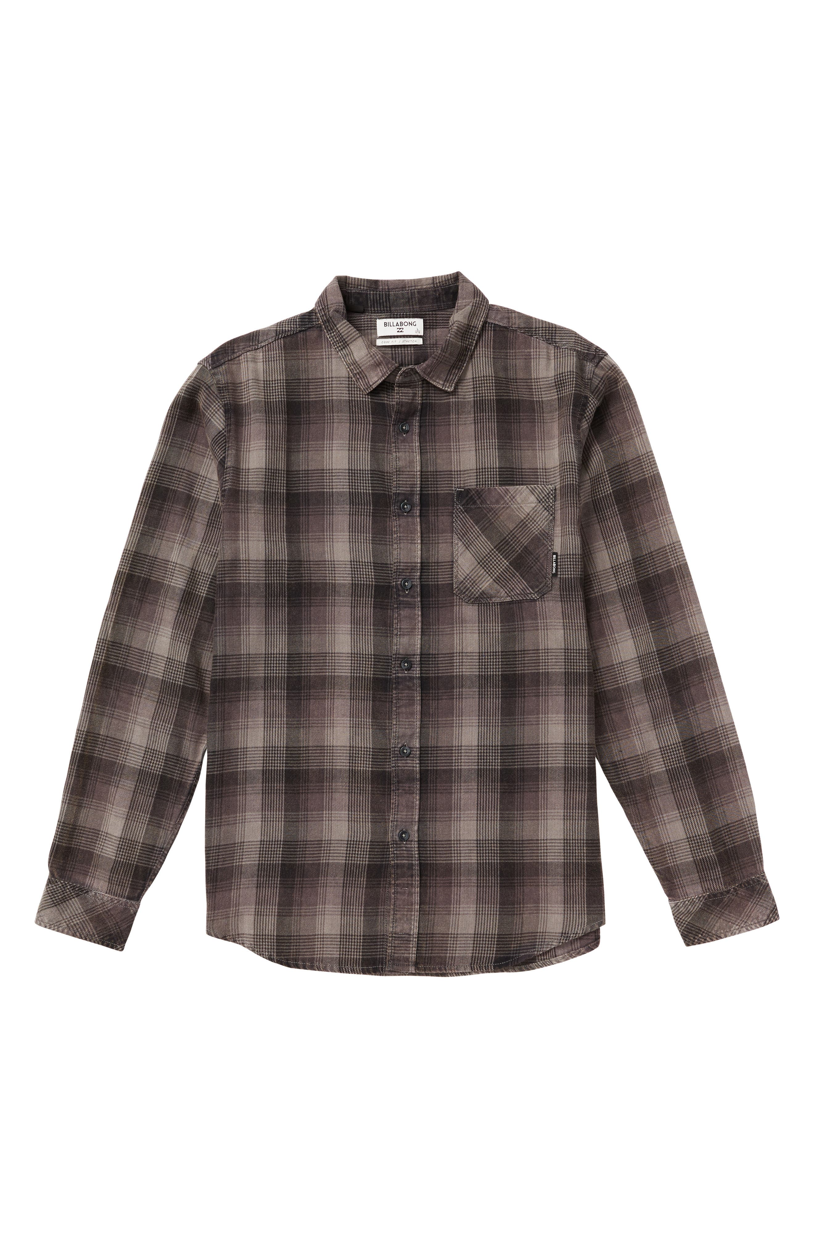 BILLABONG,                             Freemont Flannel Shirt,                             Main thumbnail 1, color,                             CHARCOAL
