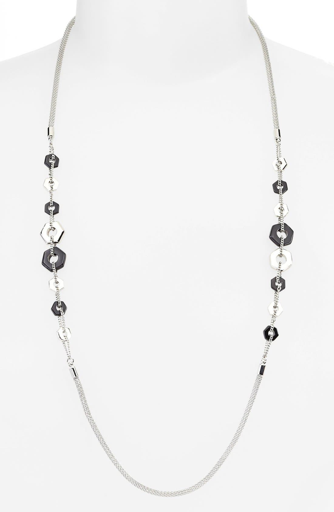 MARC BY MARC JACOBS,                             'Bolts' Long Station Necklace,                             Alternate thumbnail 2, color,                             001