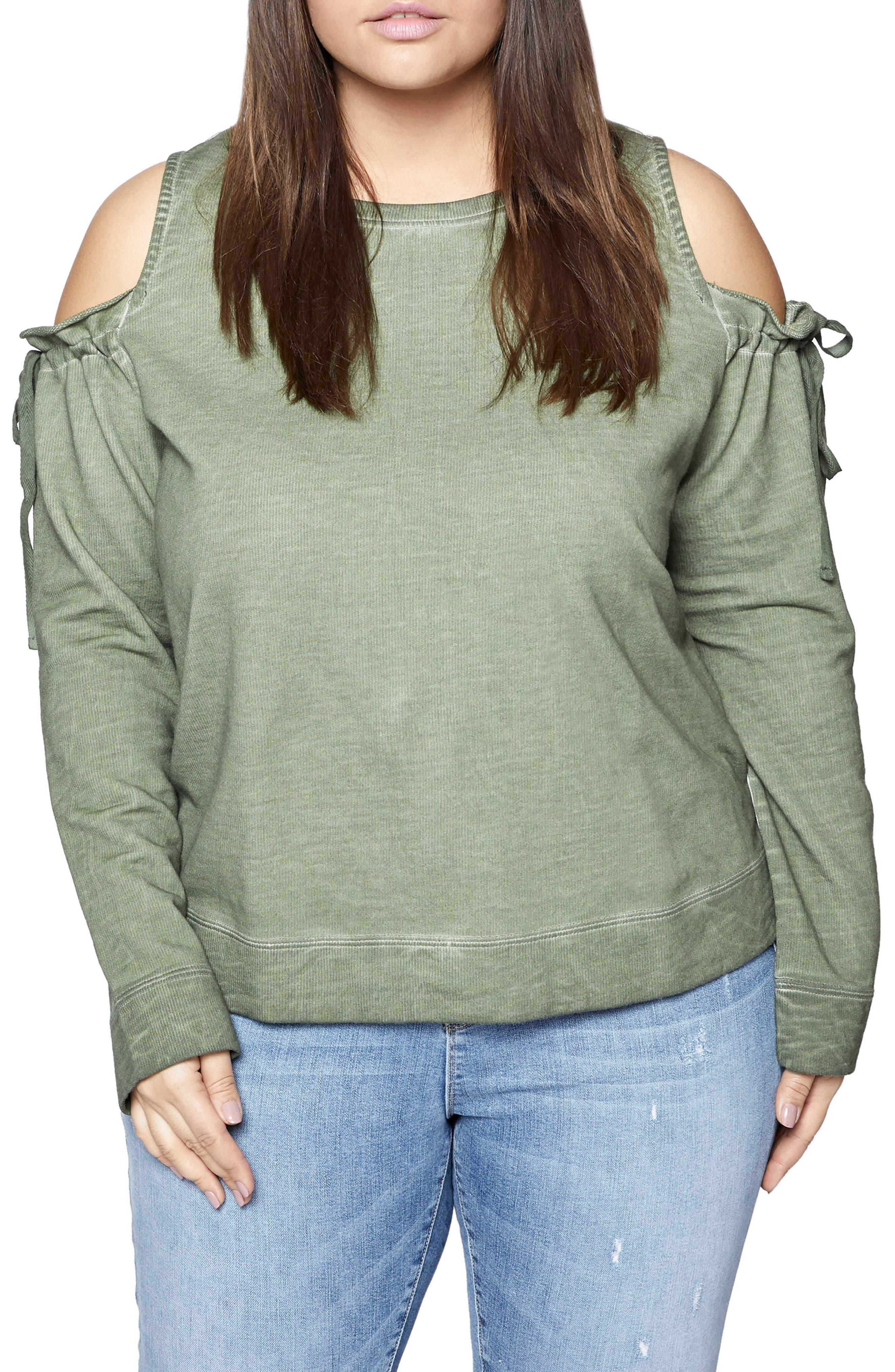 Parkside Cold Shoulder Sweatshirt,                             Main thumbnail 1, color,