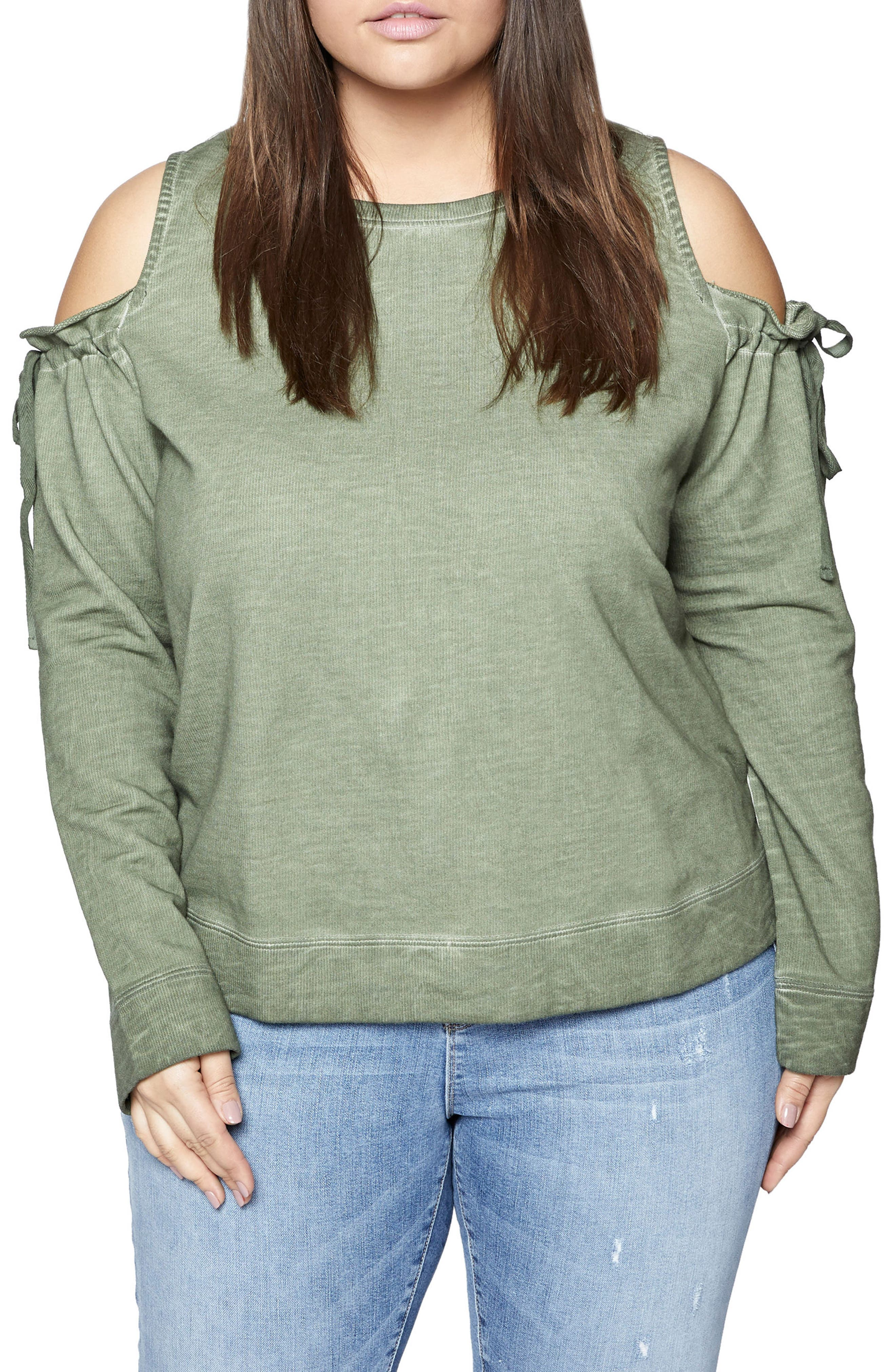 Parkside Cold Shoulder Sweatshirt,                         Main,                         color,