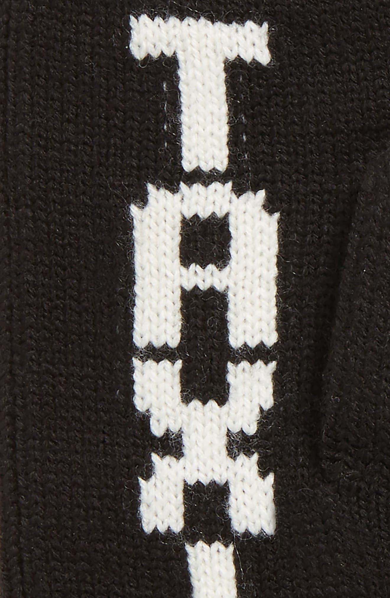 taxi mittens,                             Alternate thumbnail 2, color,                             BLACK/ CREAM