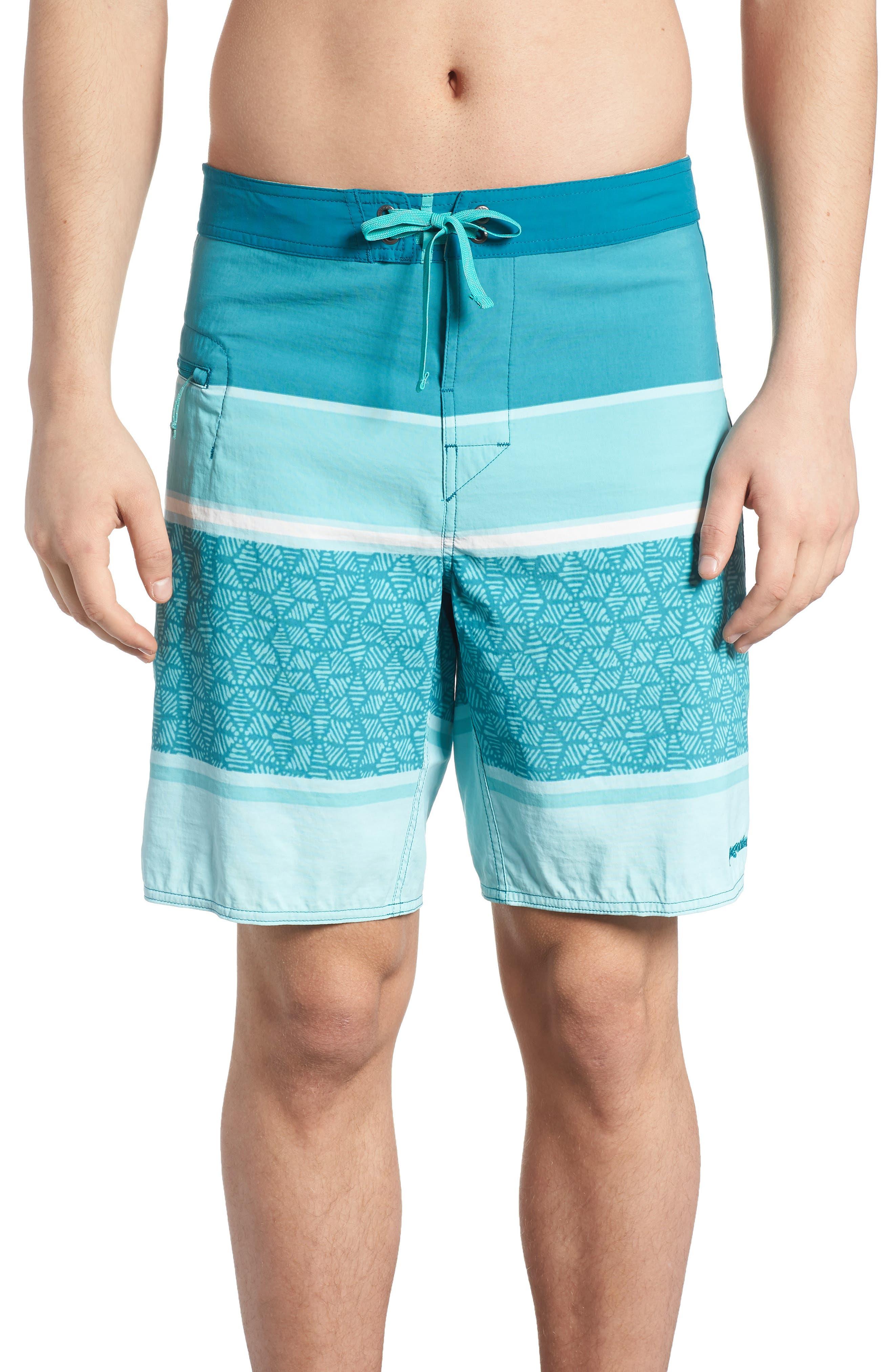 Wavefarer Board Shorts,                             Main thumbnail 1, color,                             BATIK HEX STRIPE BEND BLUE