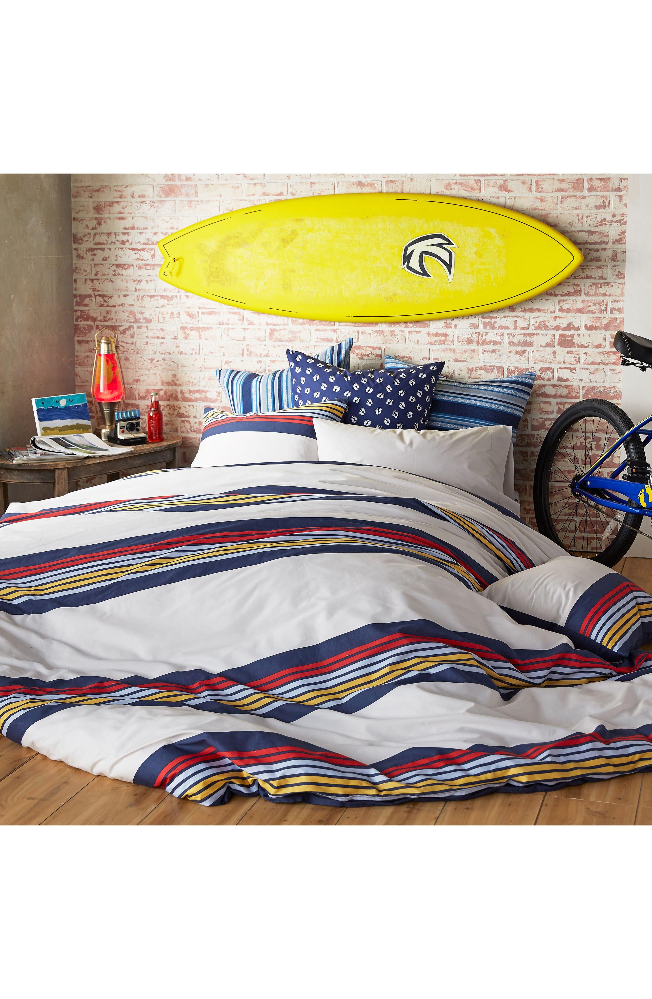 Ocean Beach Duvet Cover & Sham Set,                             Alternate thumbnail 4, color,