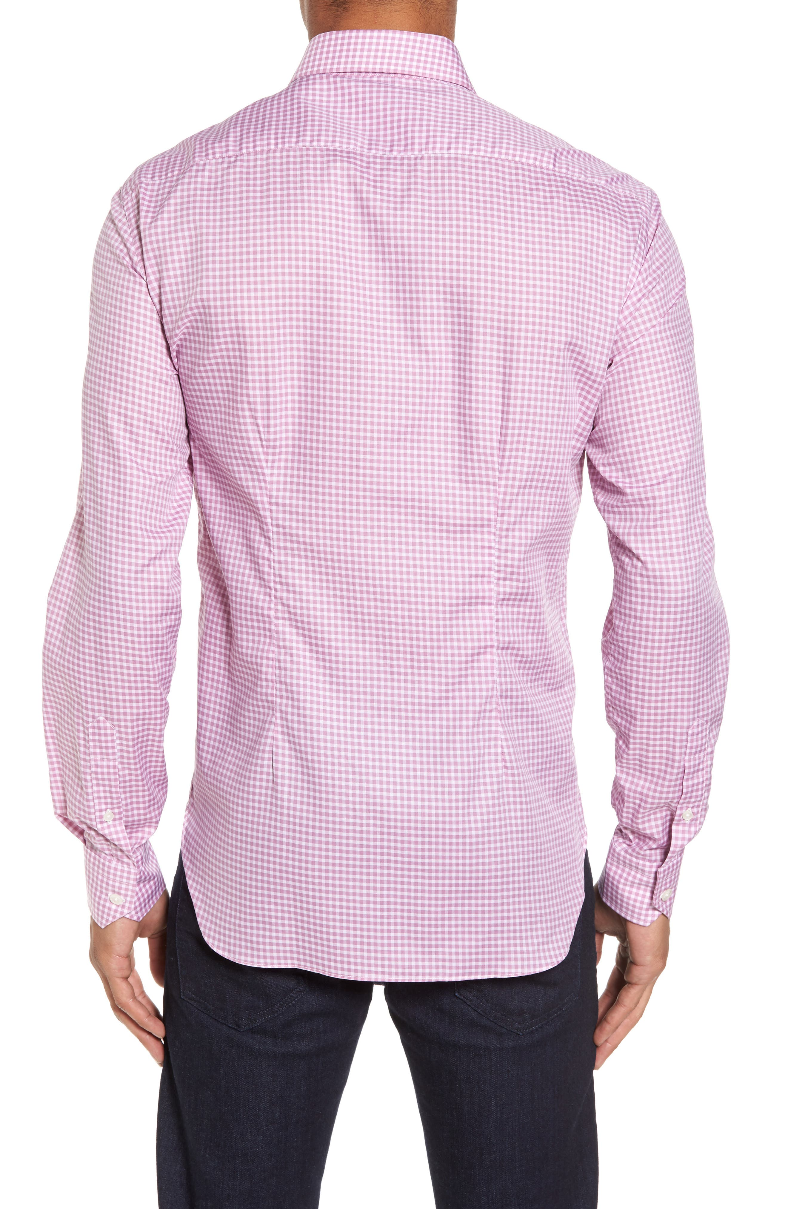 Slim Fit Check Twill Sport Shirt,                             Alternate thumbnail 2, color,