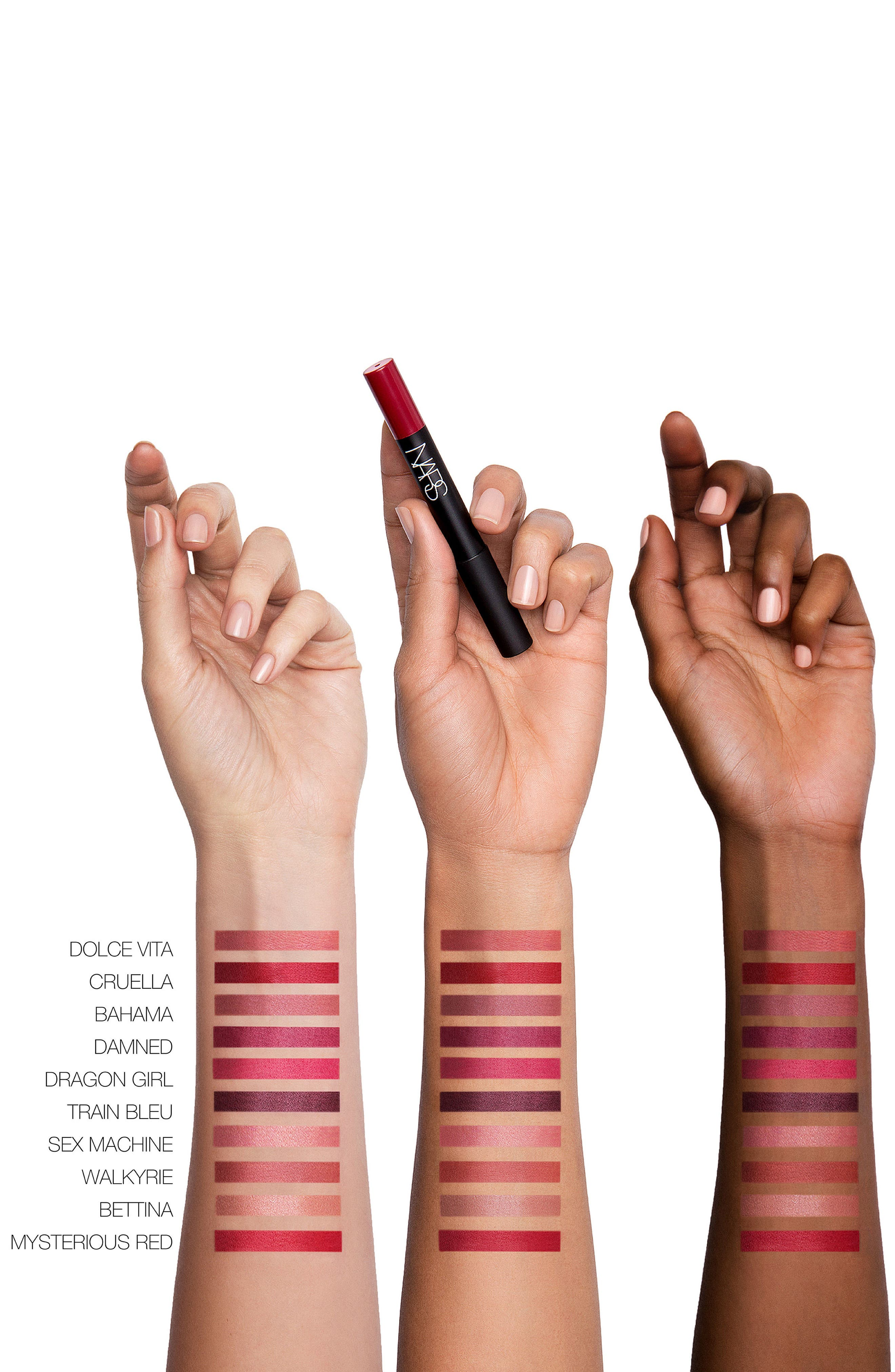 NARS,                             Velvet Matte Lipstick Pencil,                             Alternate thumbnail 3, color,                             SEX MACHINE