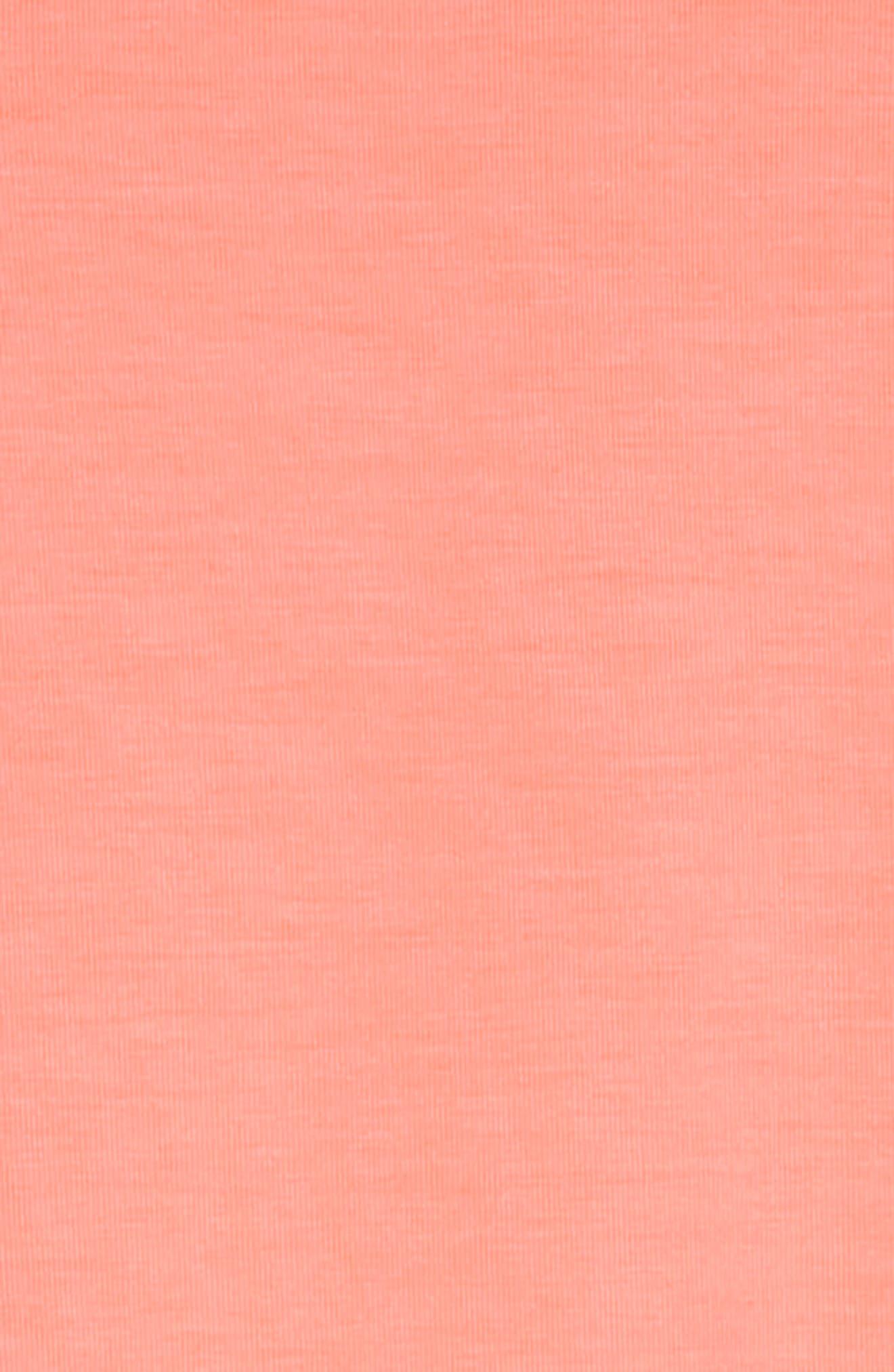 Eyelet Cold Shoulder T-Shirt Dress,                             Alternate thumbnail 3, color,                             NEON CORAL