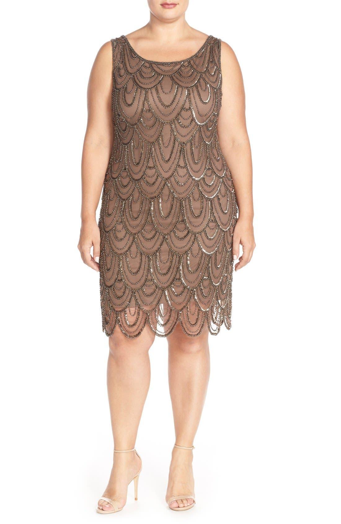 Beaded Sheath Dress,                             Alternate thumbnail 20, color,