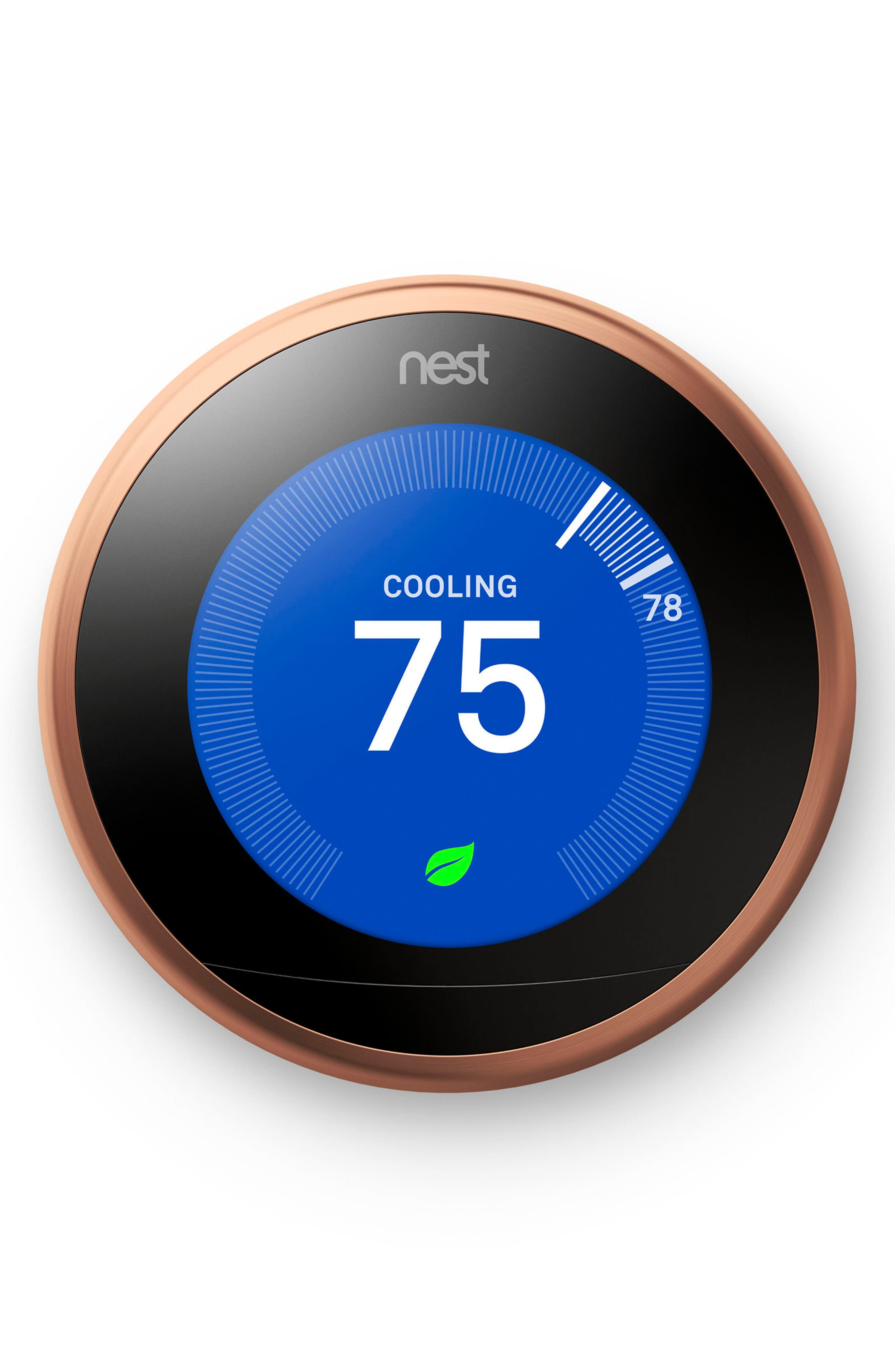 Learning Thermostat,                             Alternate thumbnail 2, color,                             COPPER