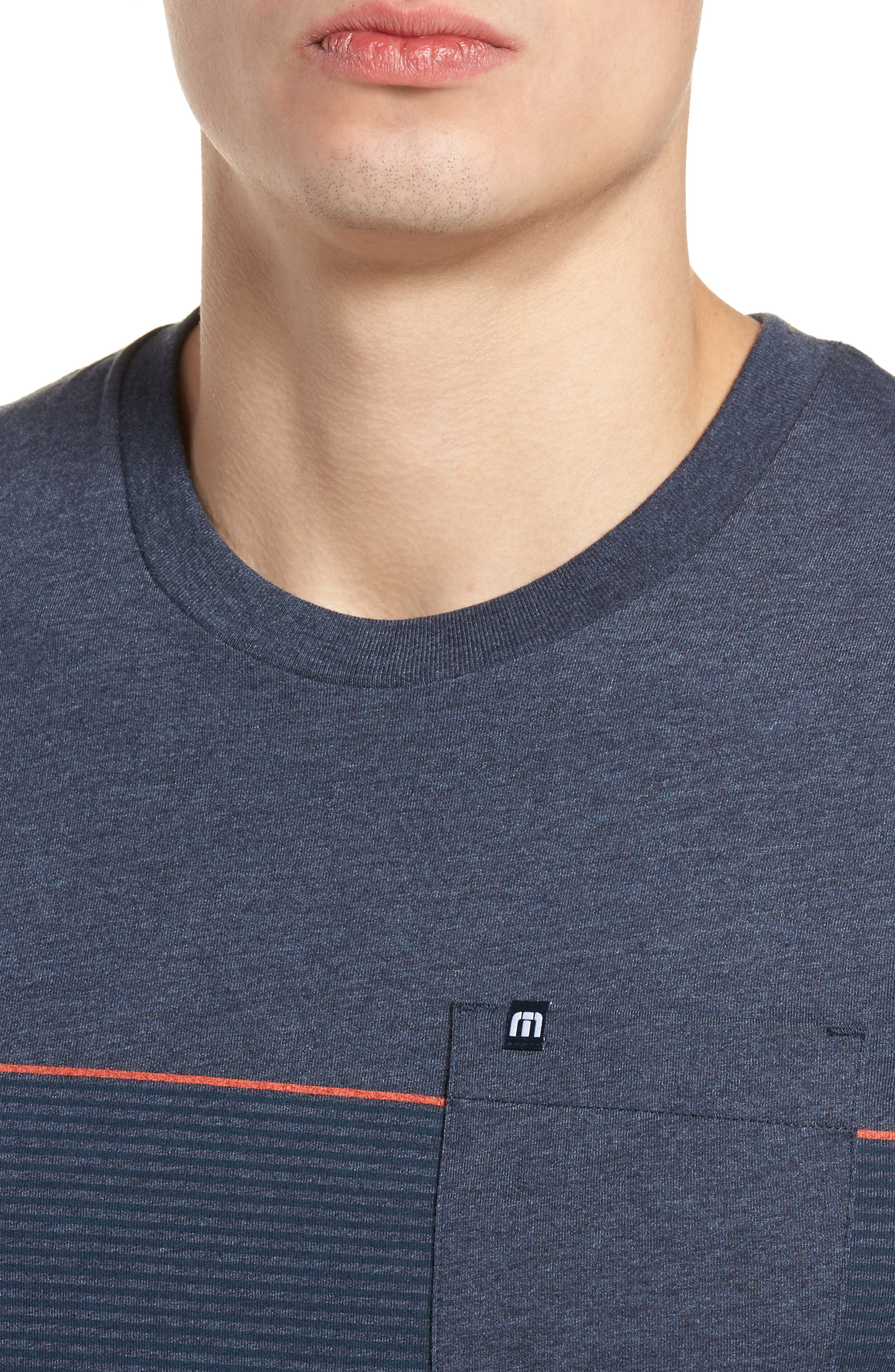 Jeramie Stripe Pocket T-Shirt,                             Alternate thumbnail 4, color,                             401