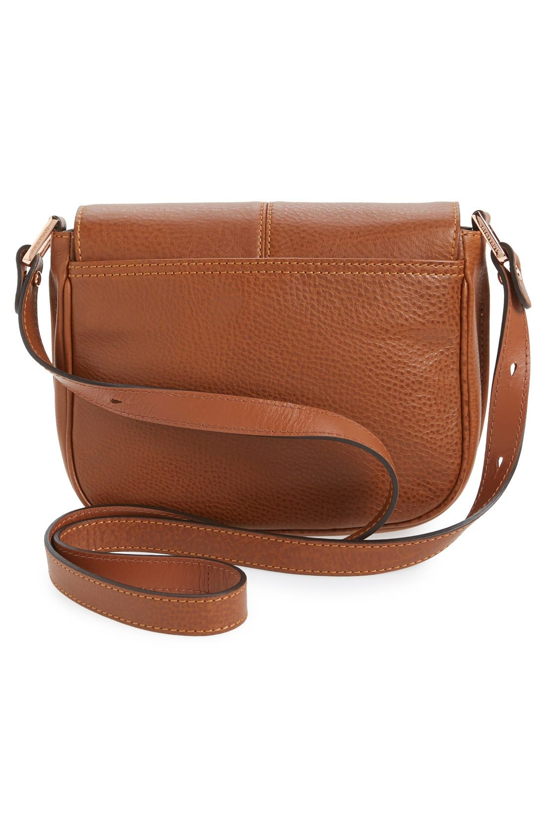 'Small Mystery' Leather Crossbody Bag,                             Alternate thumbnail 4, color,